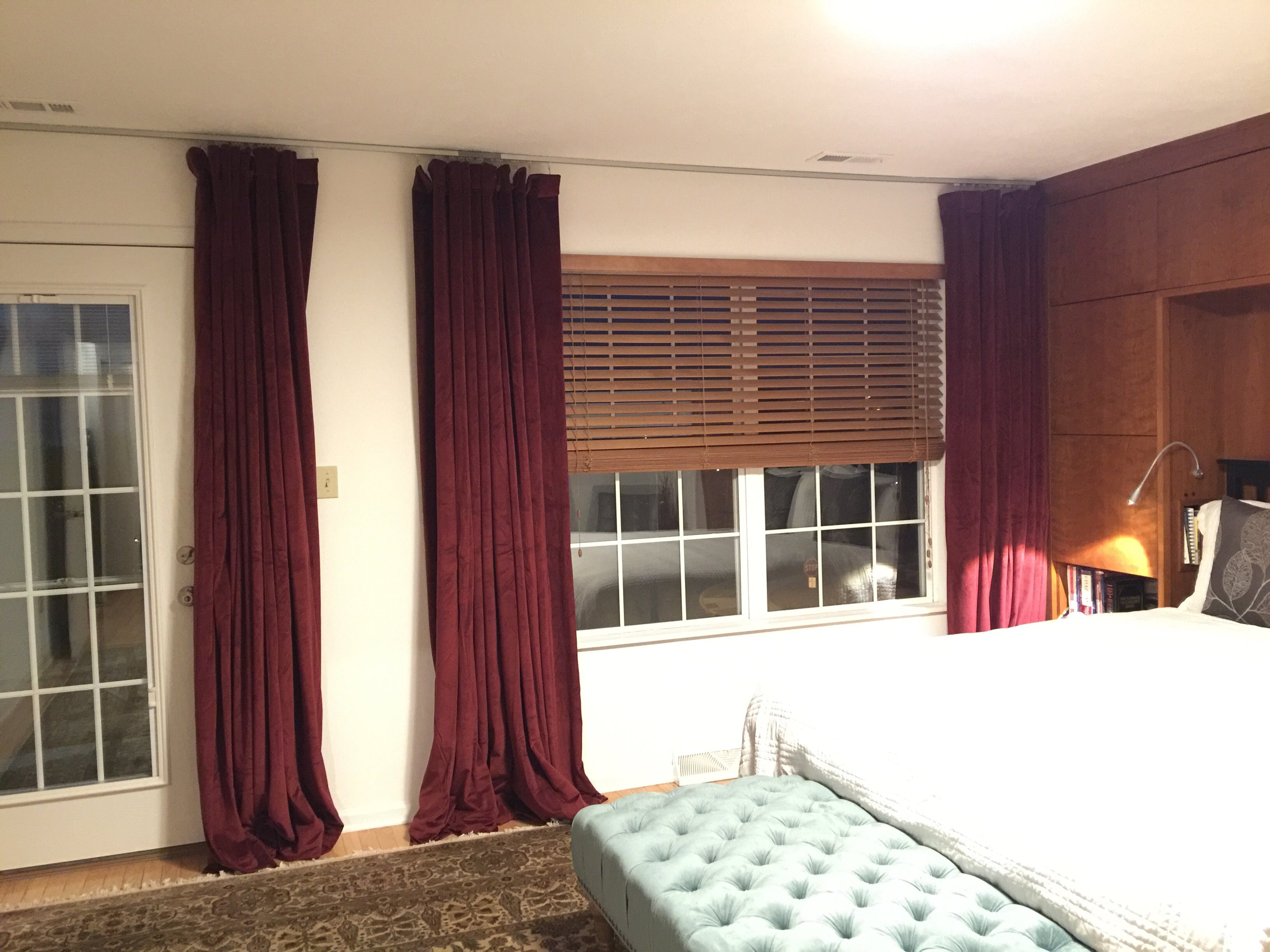 Ceiling mounted privacy curtains