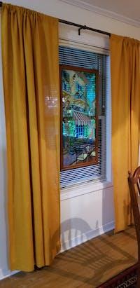 Linen Rod Pocket Curtain Panel - 53'' Width, Custom Length