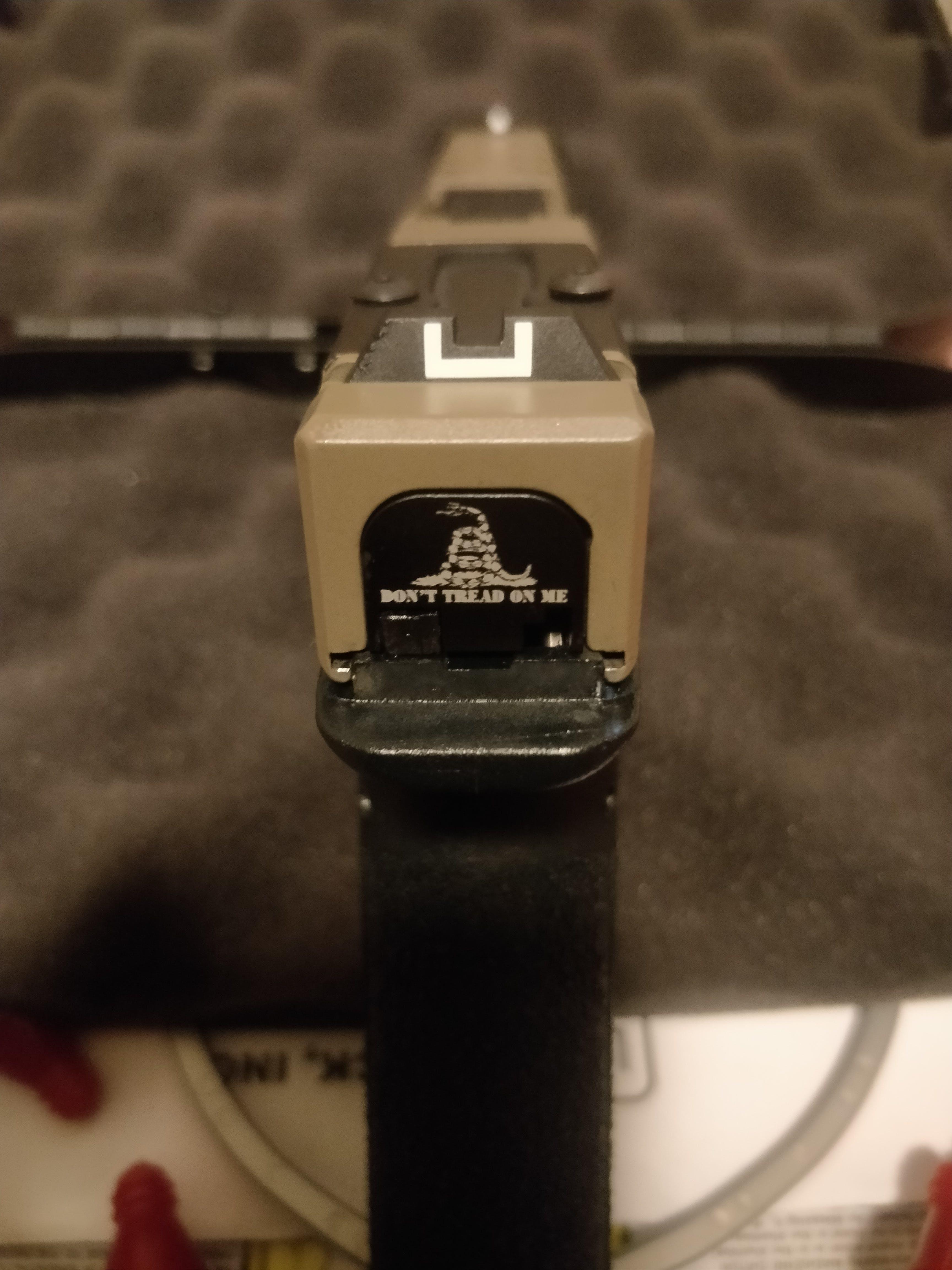AR-15 Custom Laser Engraved Ejection Port Dust Cover Molon Labe Helmet