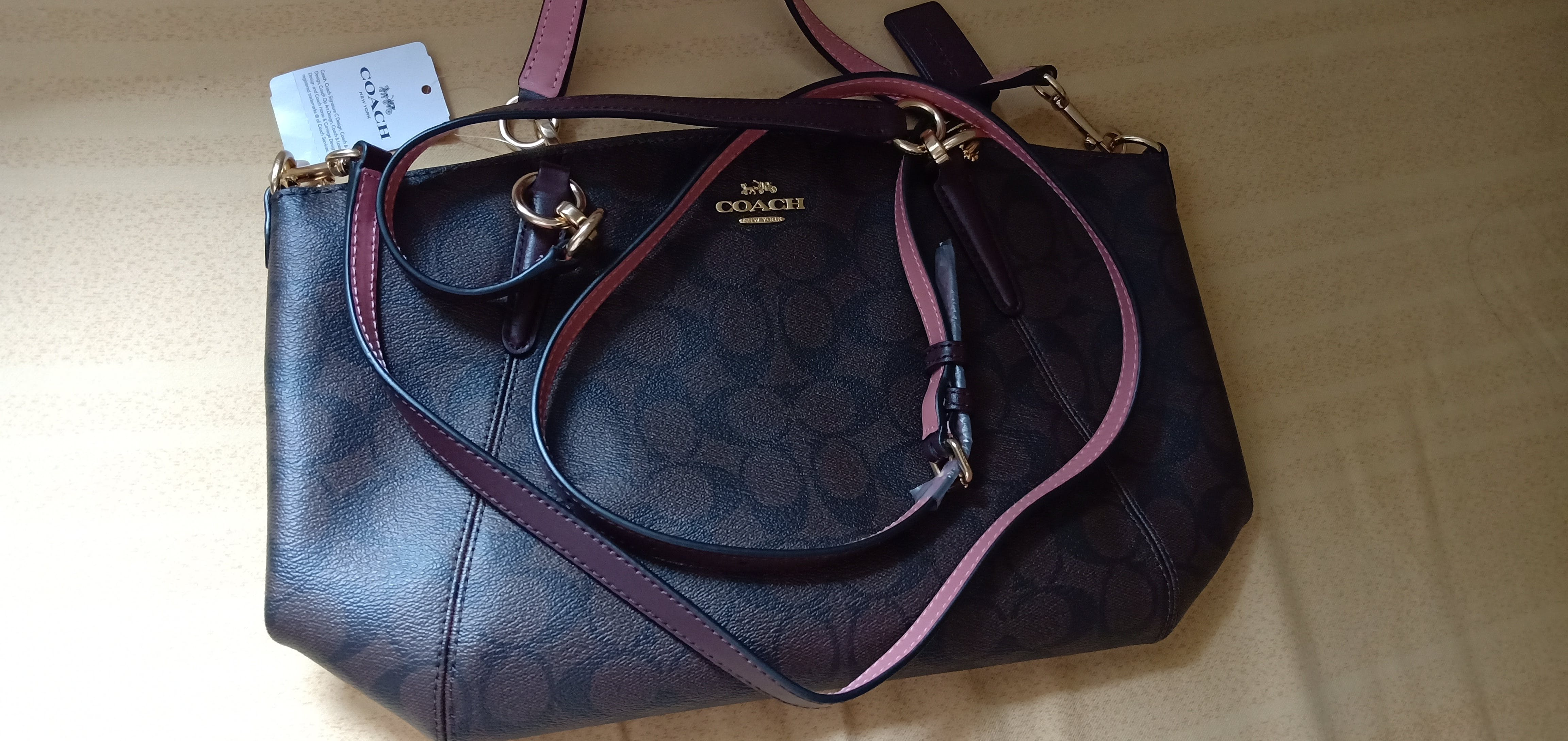 f789ad3d629c Tas Coach 28989 Signature Small Kelsey Brown Oxblood – Balilene