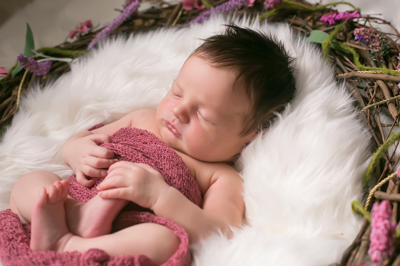 Dusty Rose Stretch Knit Baby Wrap Newborn Photography Beautiful