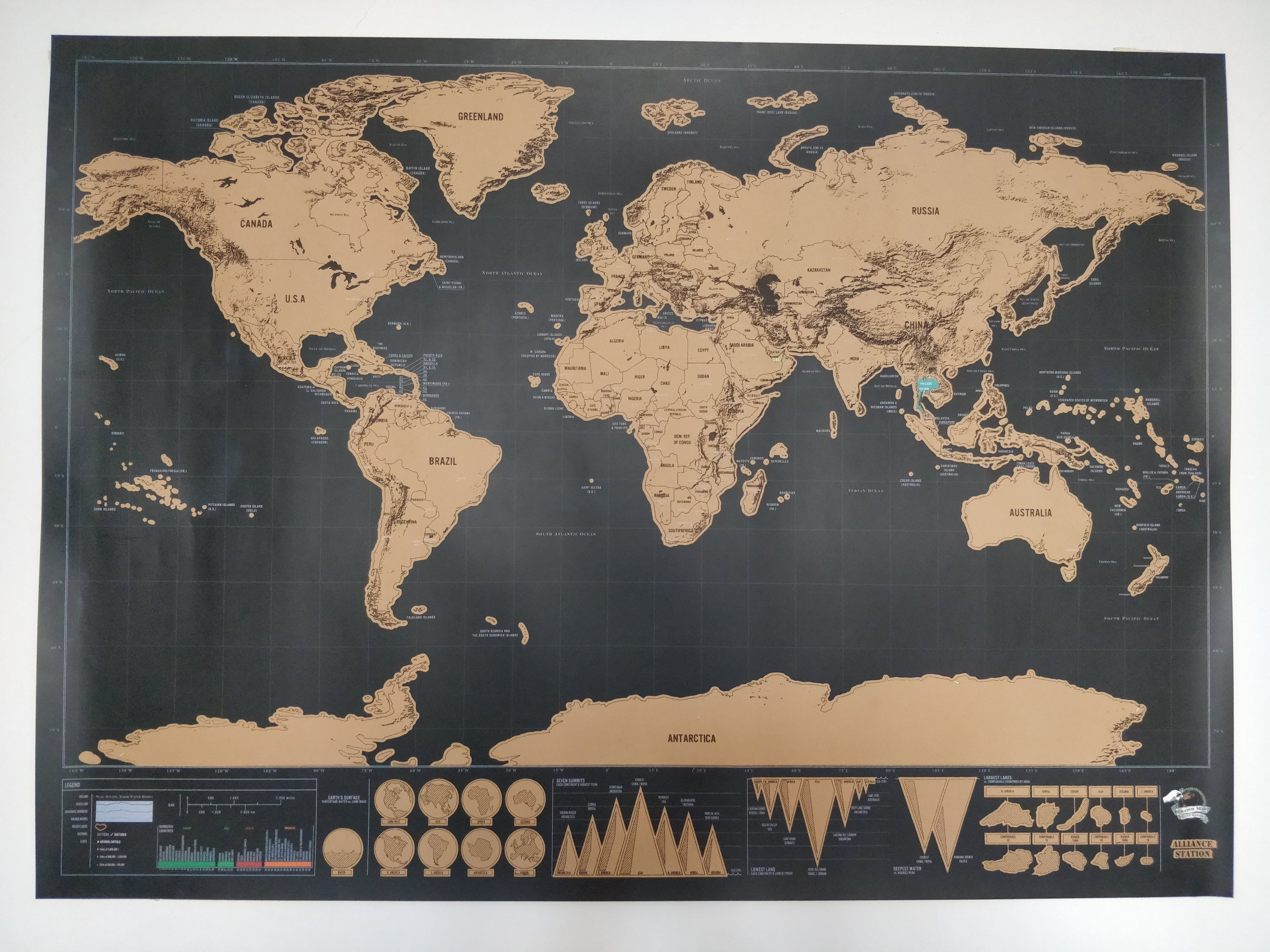 How cool is this a scratch off map to check off all the places buy scratch world map travel gift online india bigsmallin world map poster for travellers gumiabroncs Images