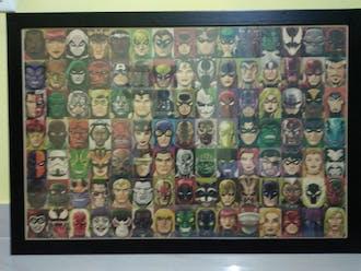 Vintage Superheroes Poster