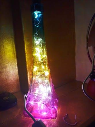 Eiffel Tower Bottle Lamp