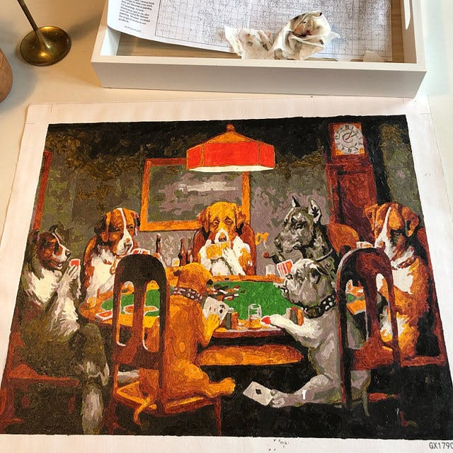 Dogs Playing Poker - Cassius M. Coolidge