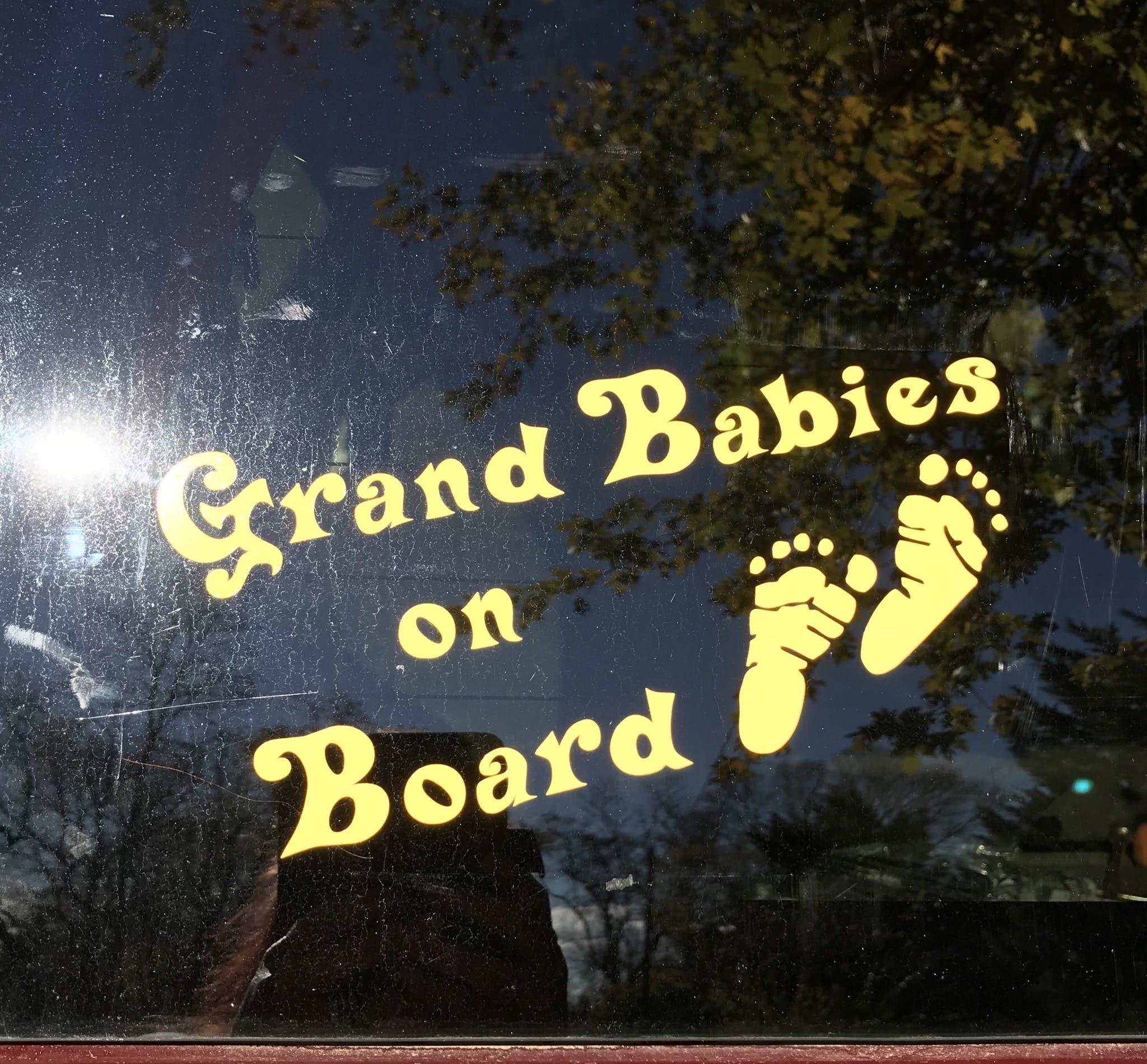 Grand Babies on board  - Baby on Board Sticker