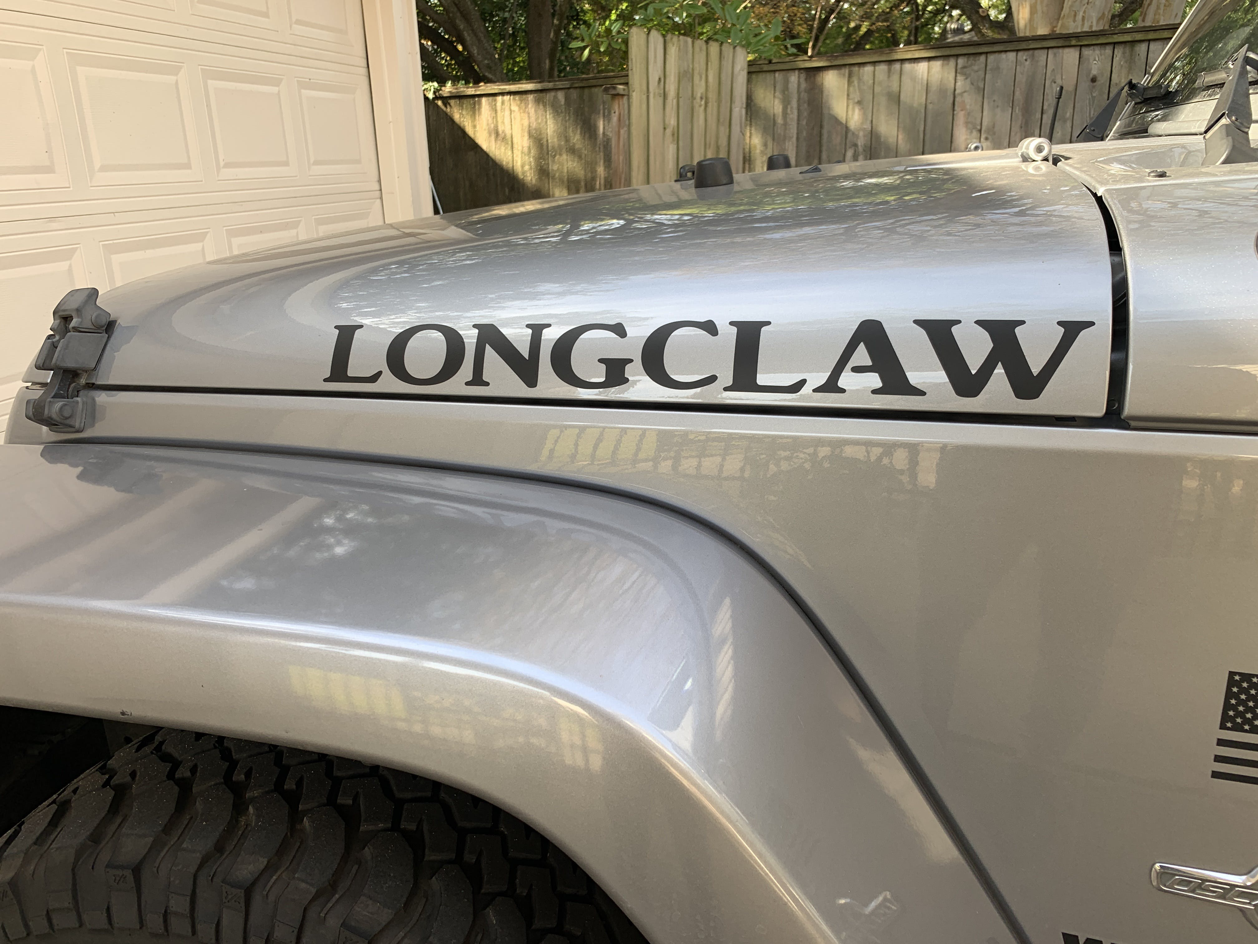 Custom Hood Text Jeep Decal Stickers