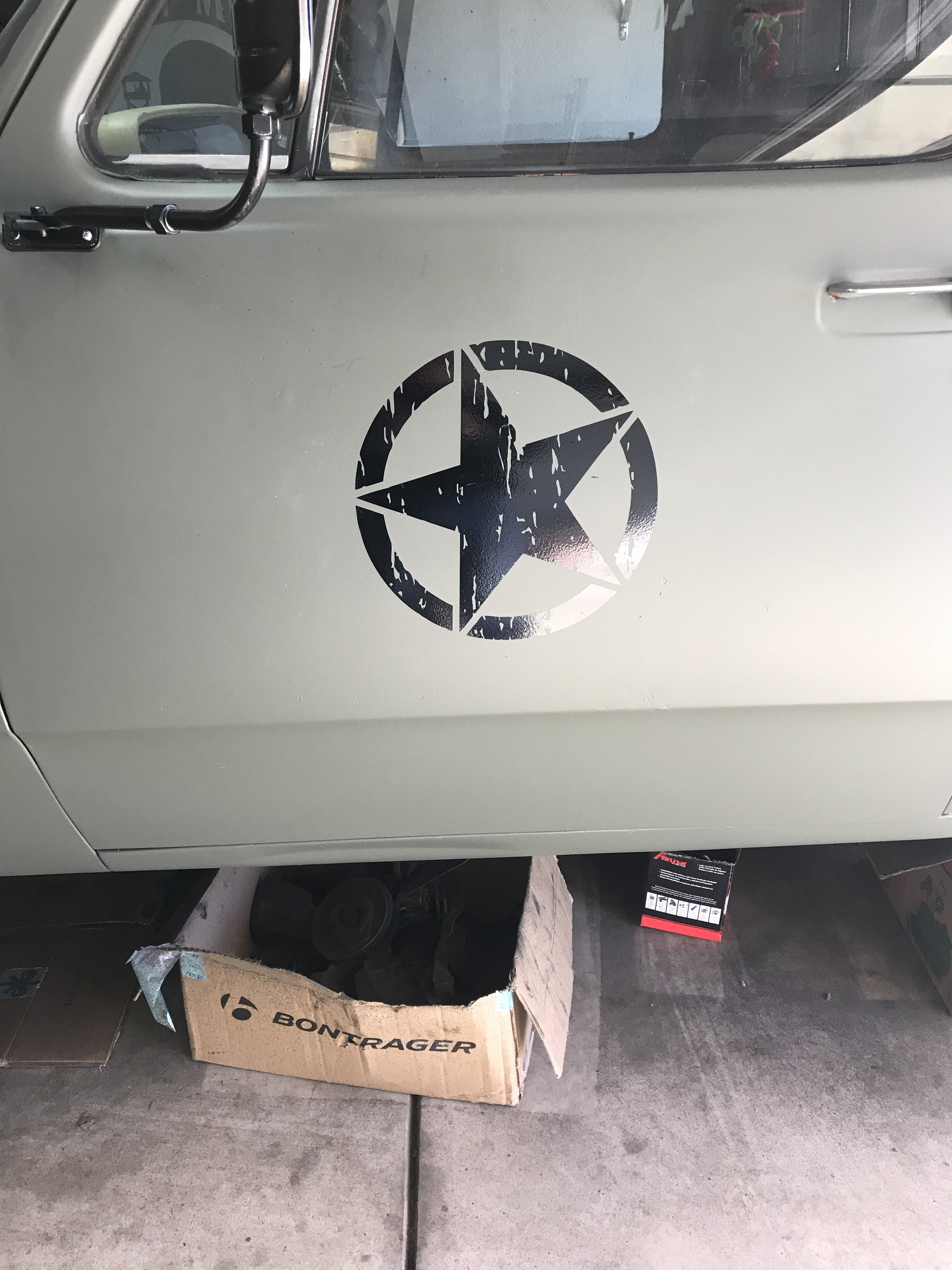 Jeep Distressed Star Door Single Jeep Decal Stickers