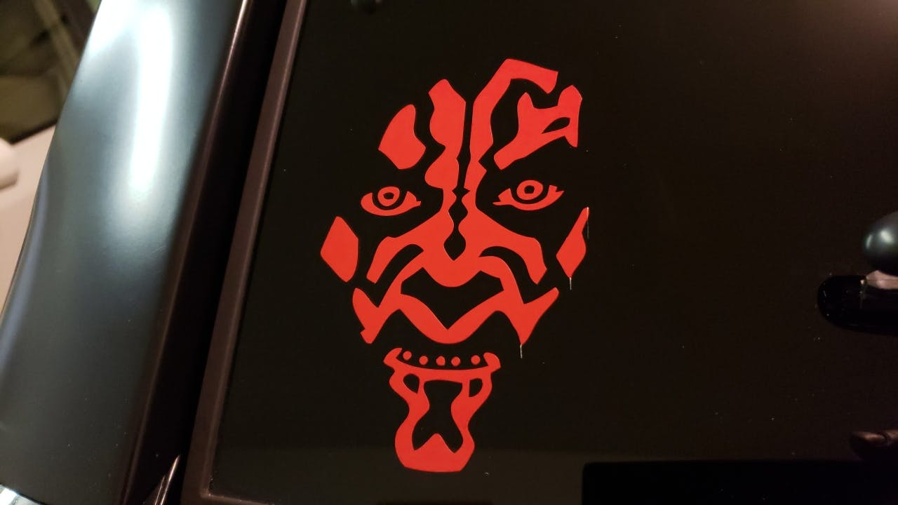 Star Wars Darth Maul Window Decal Sticker