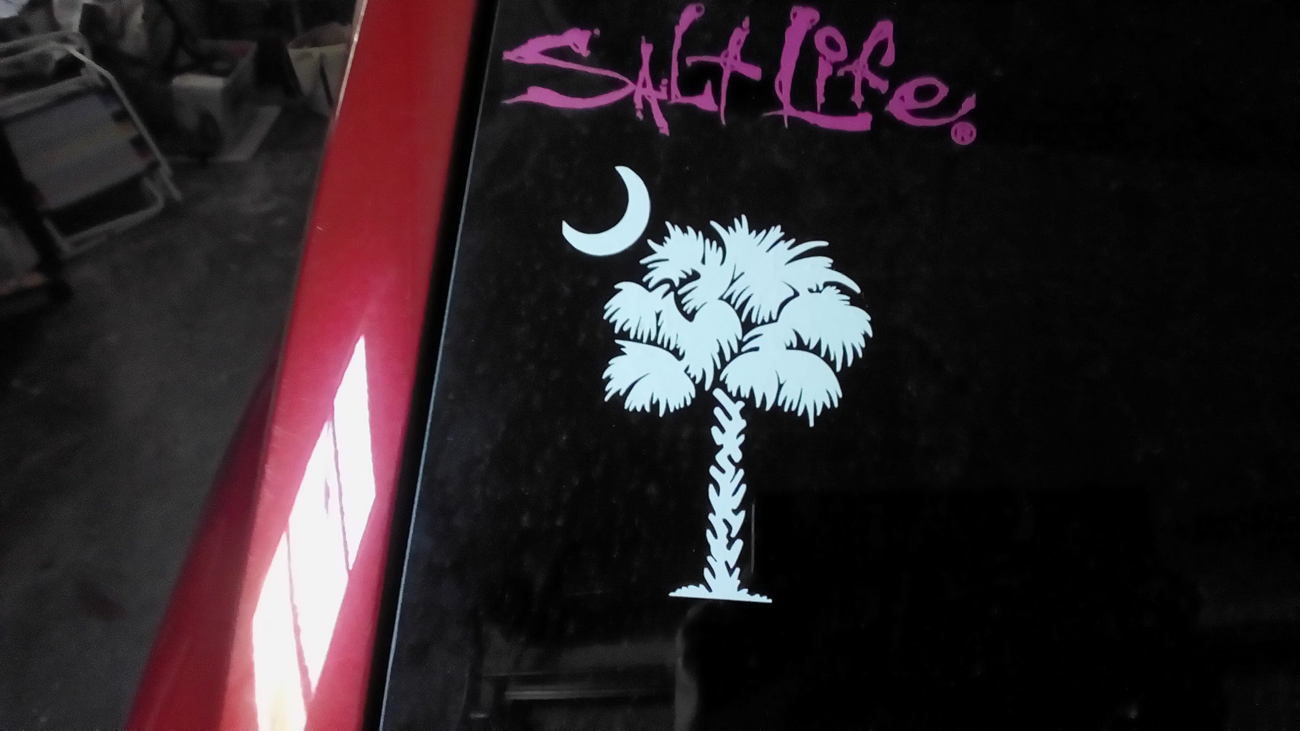 South Carolina Palmetto Tree  Window Decal Sticker