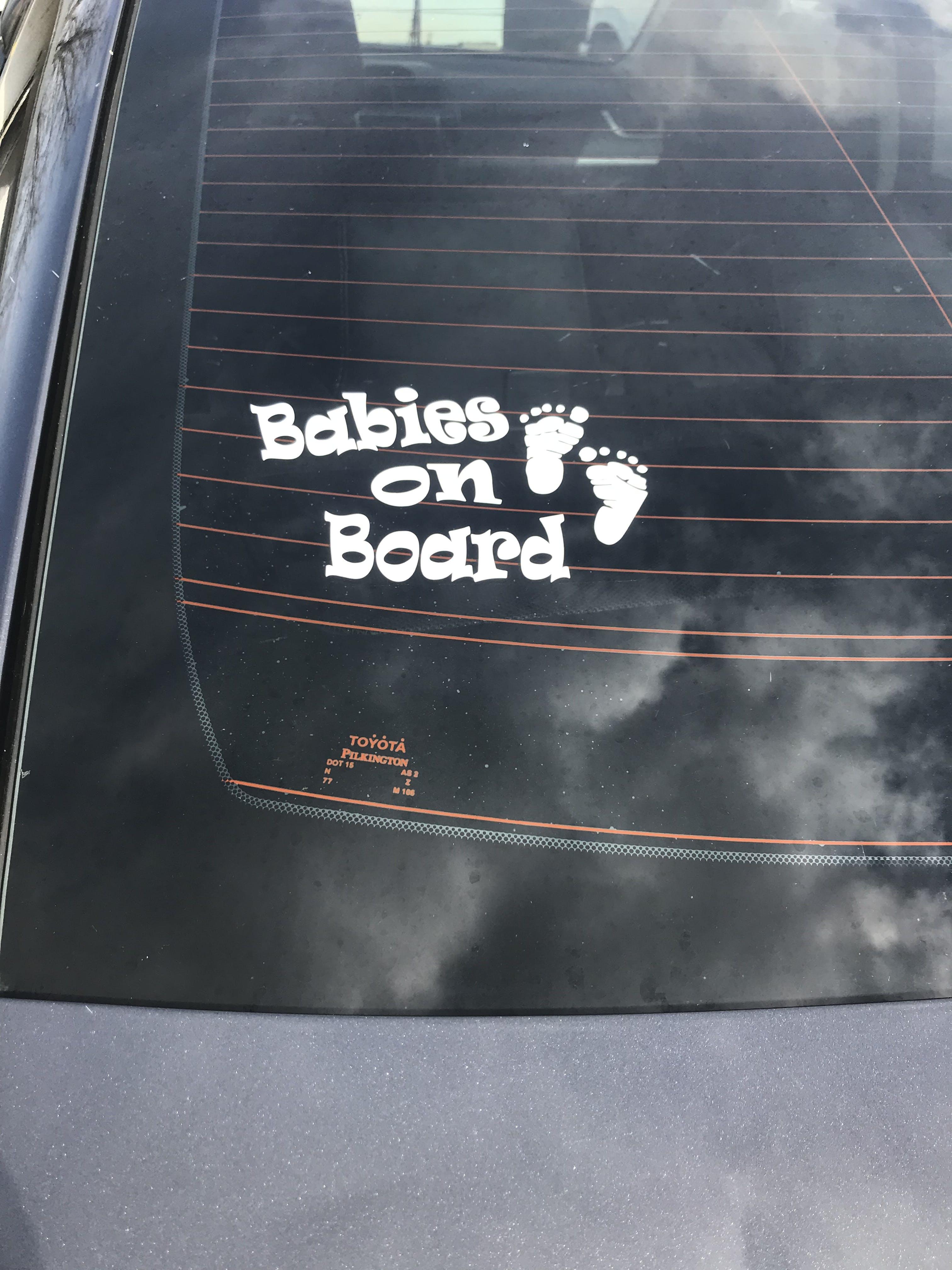 Footprints - Baby on Board Sticker