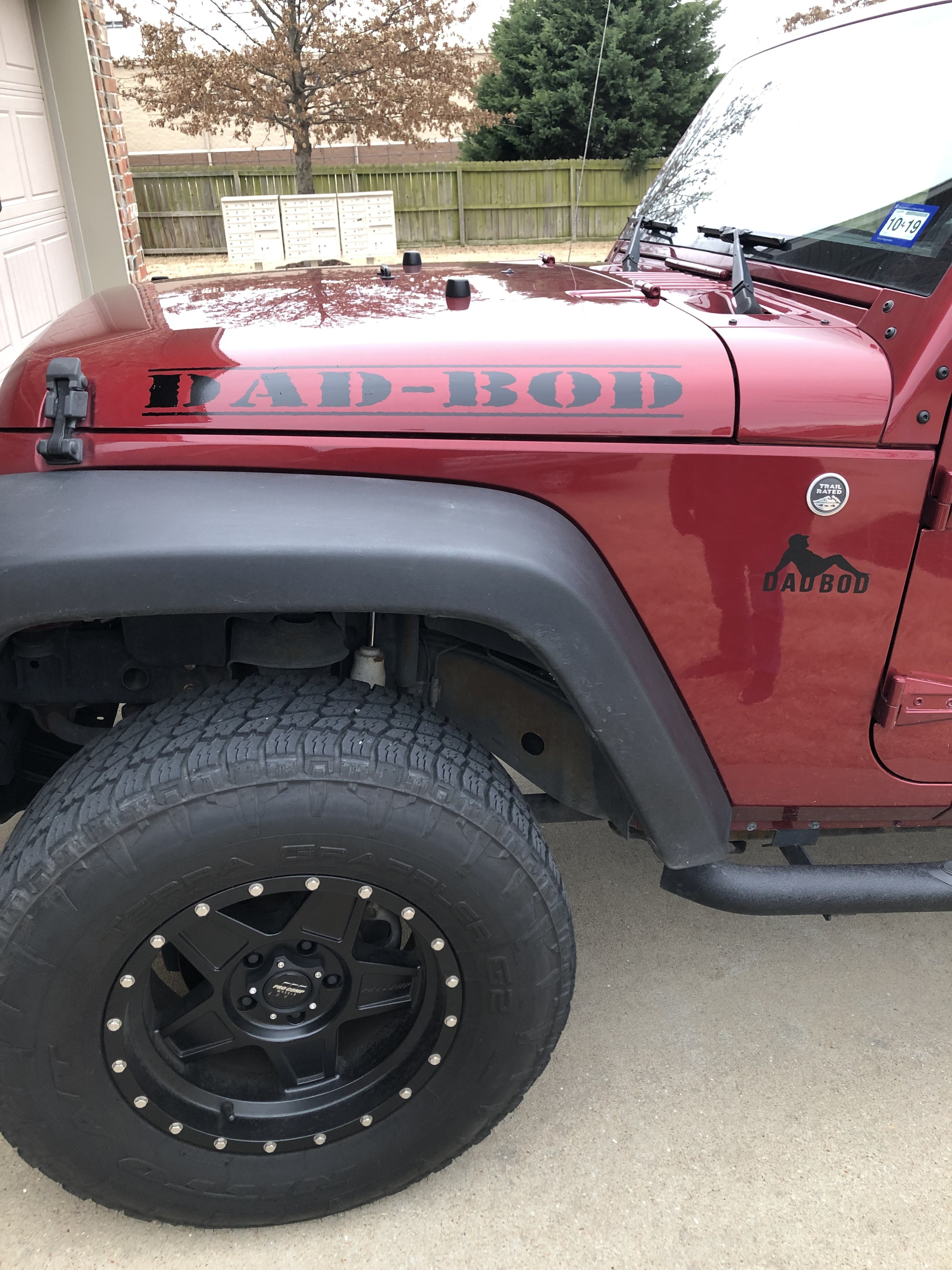 Custom Hood Text Jeep Decal Stickers