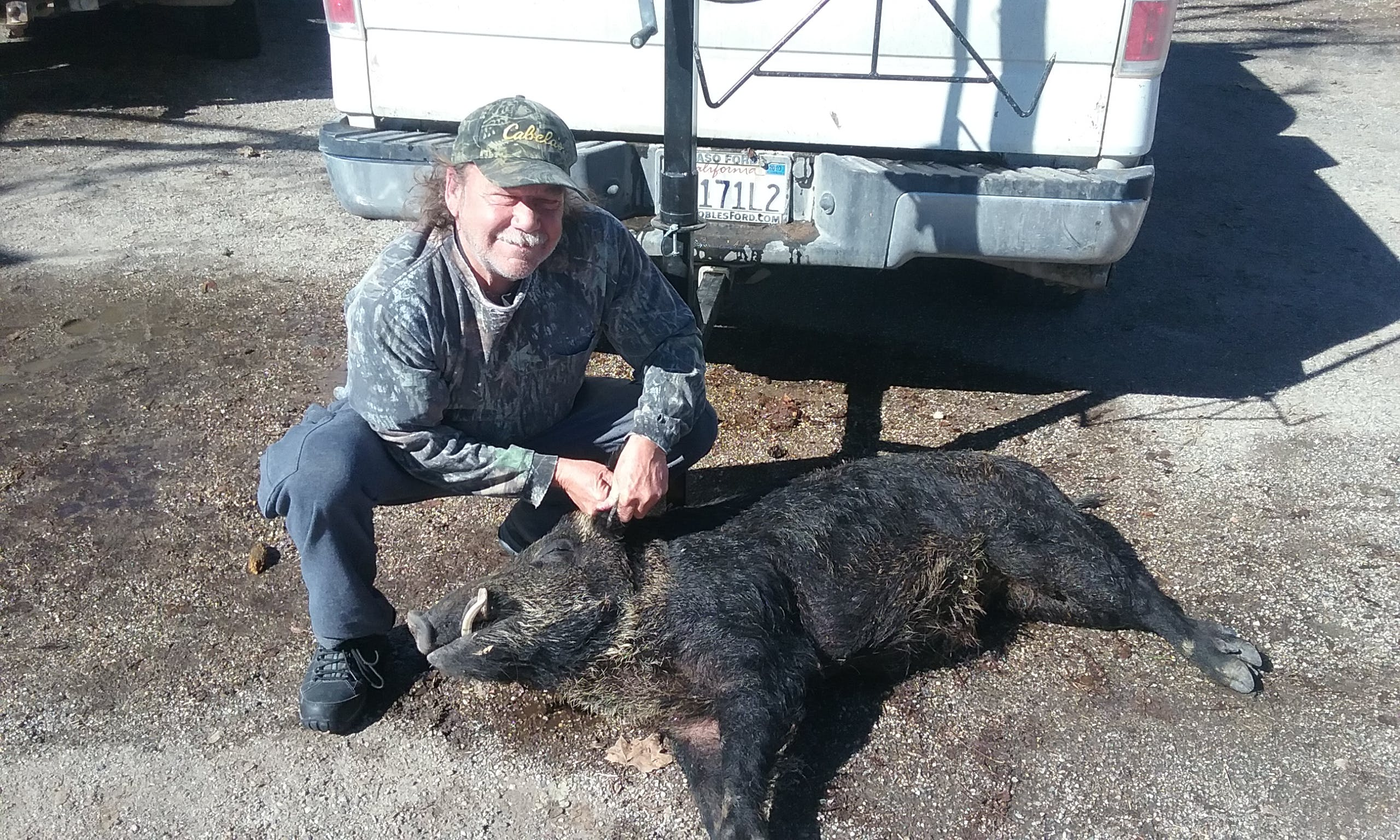 Hog Hunter II Hunting Window Decal Sticker