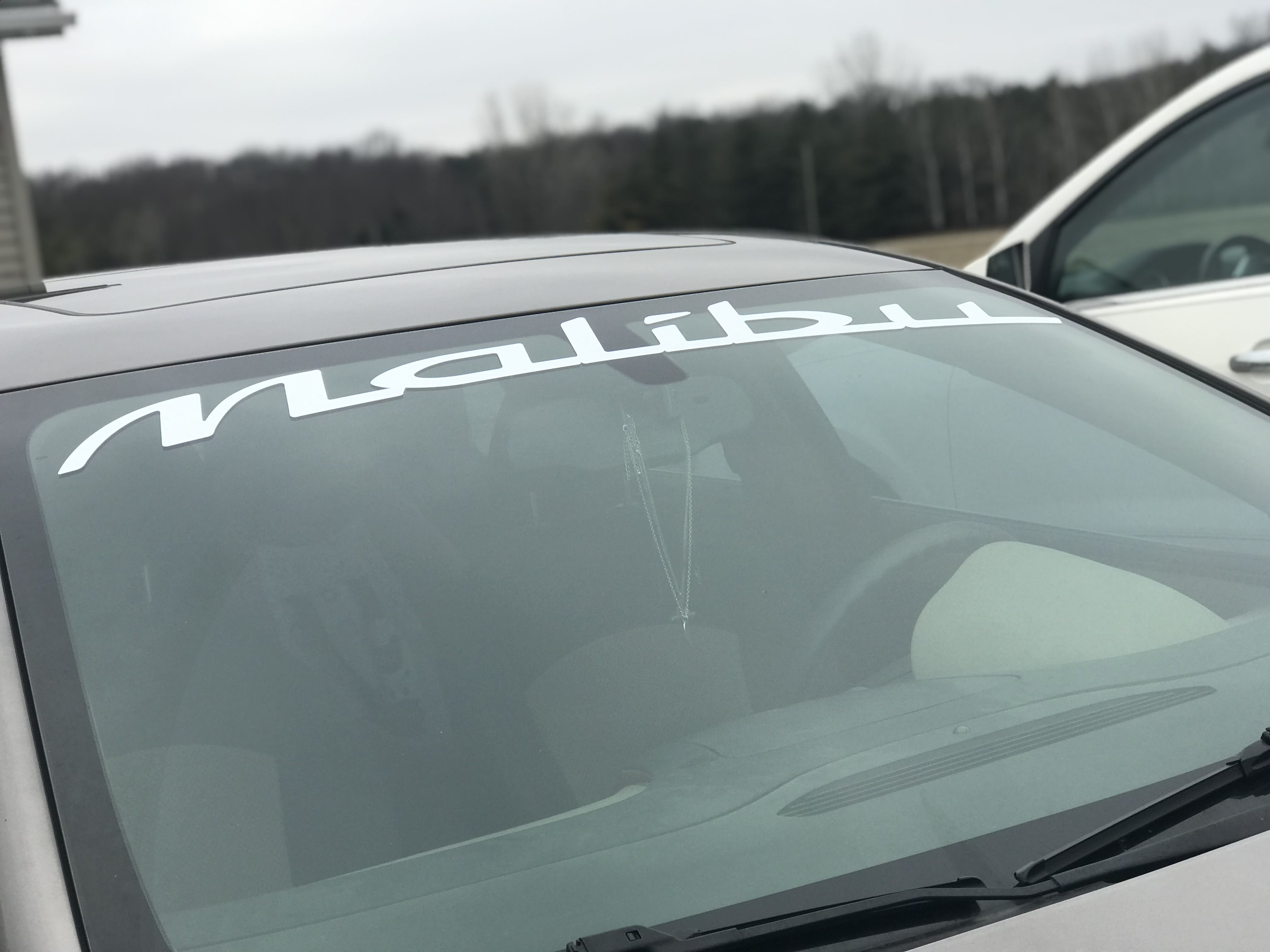 Chevy Malibu Windshield Banner Decal Sticker