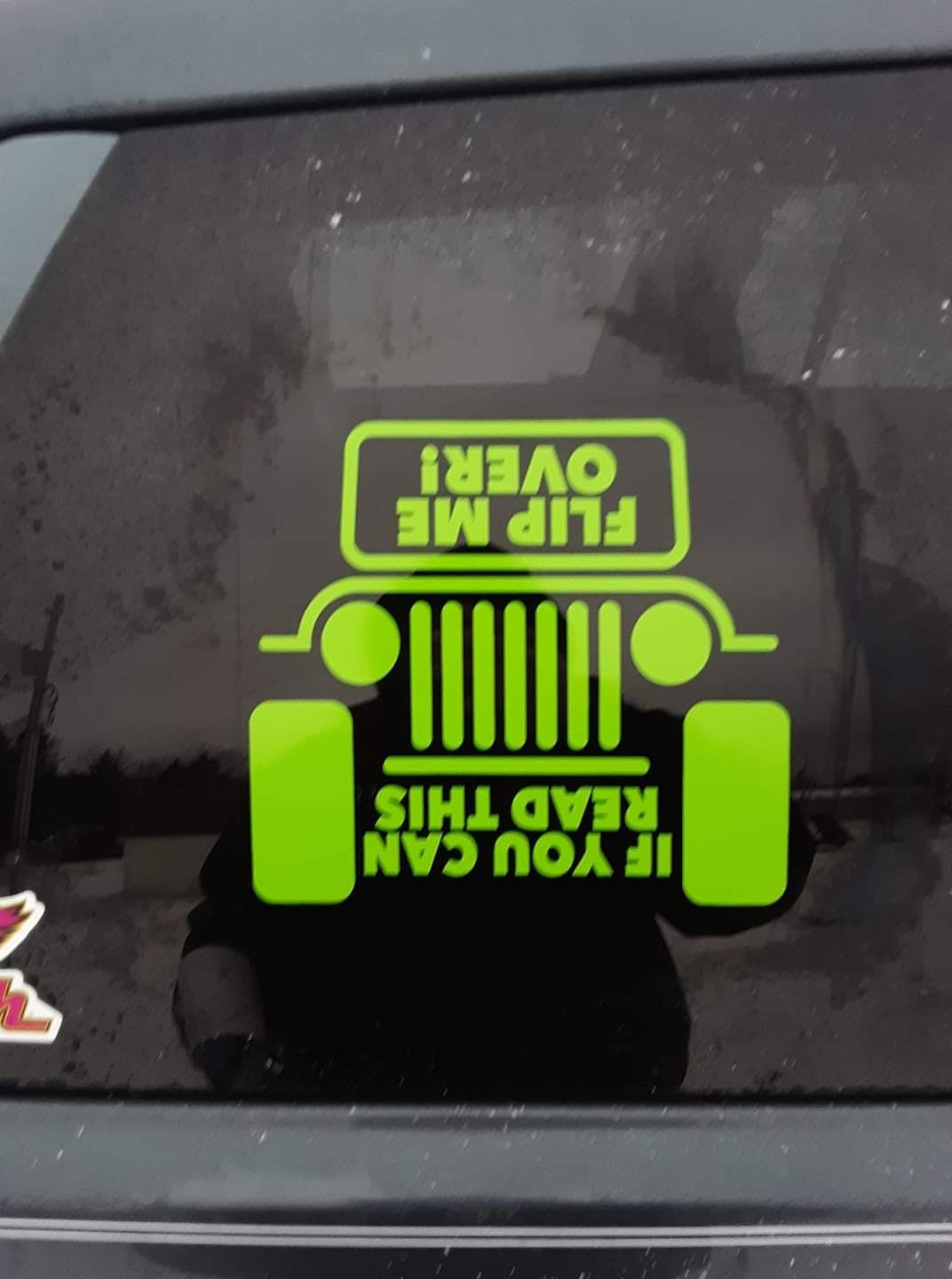 Jeep If you can read this flip me over Jeep Decal Stickers