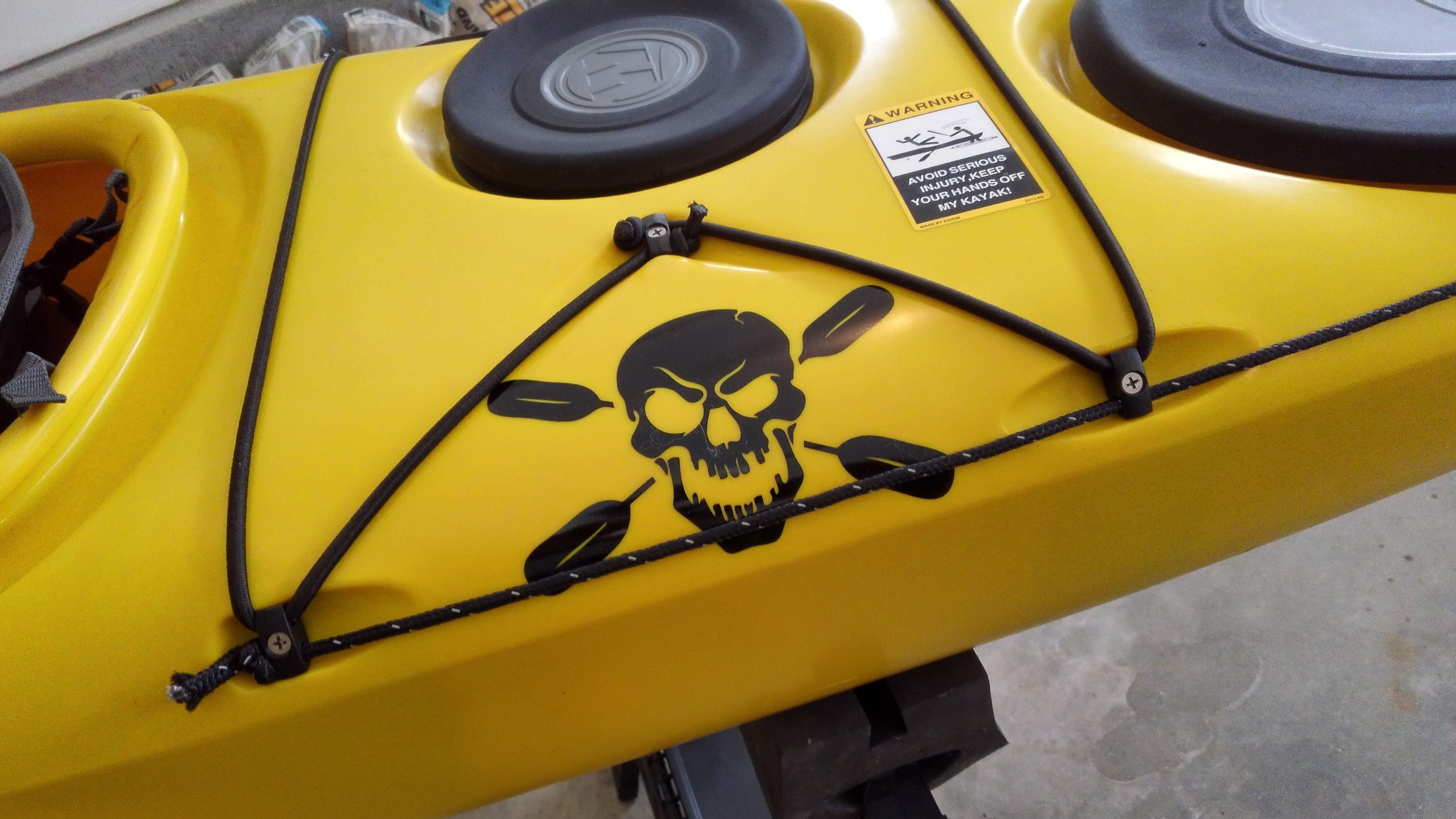 Skull Oars Kayak Window Decal Sticker