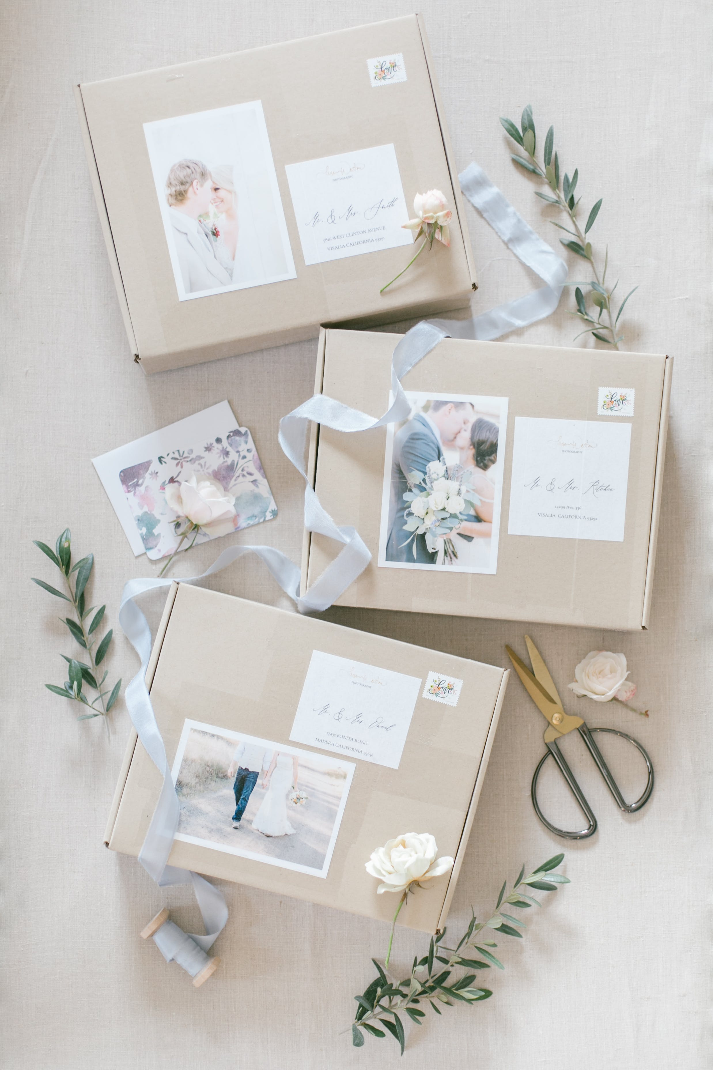 Gift Mailler Boxes - Photography Welcome Packet Boxes - Design Aglow