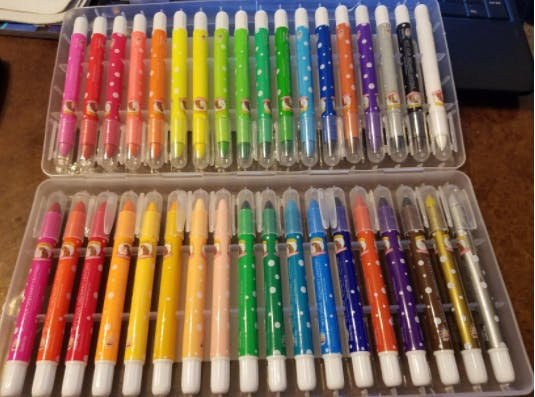 noyo crayons in 36 colors gel crayons silky smooth and bolder