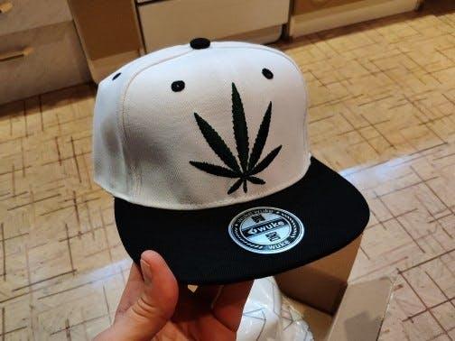 Flatbill Snapback 710  Pot Embroidered Cannabis Cap