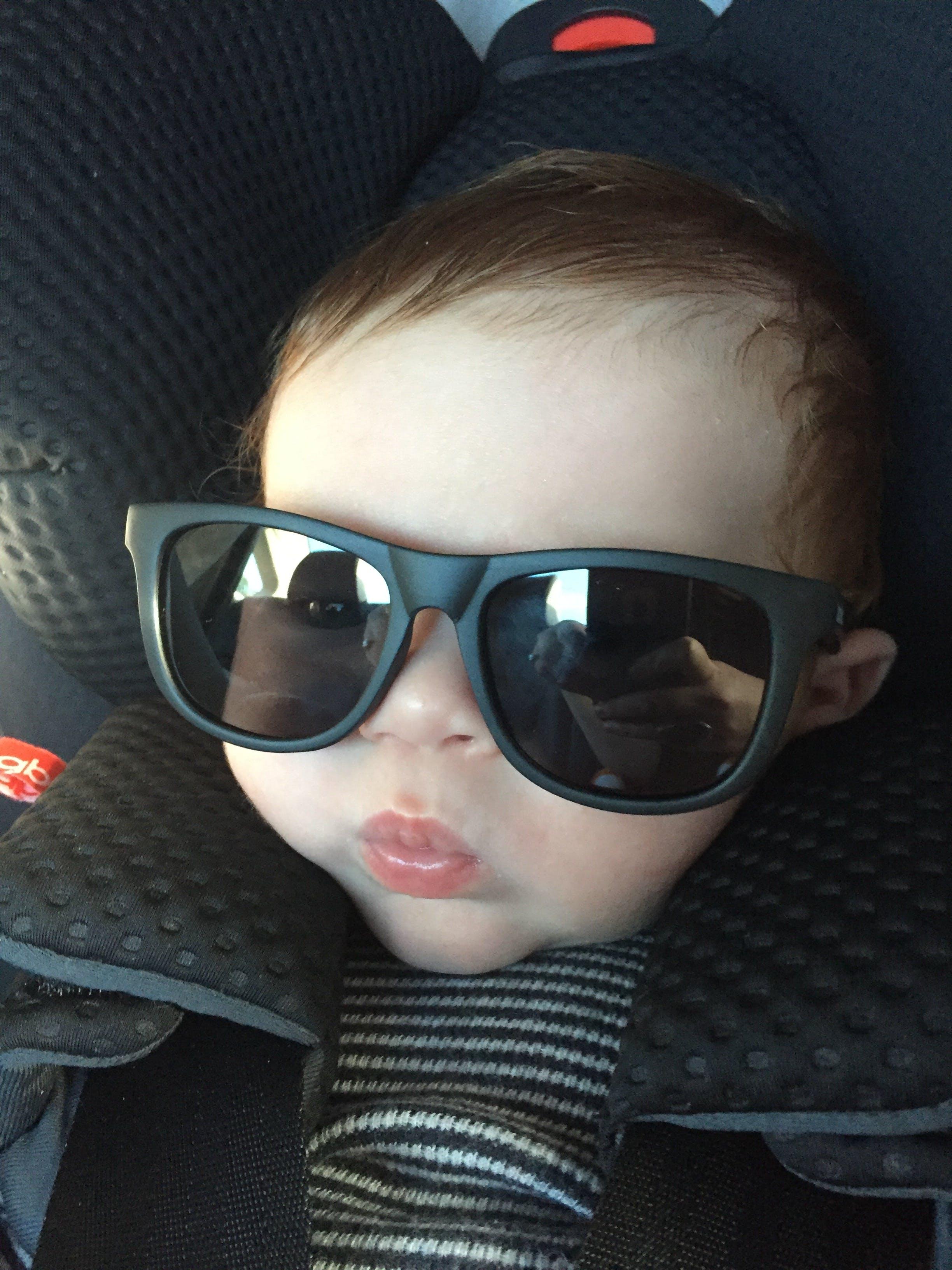 Baby Sunglasses - Black Polarized | Baby Sunglasses by