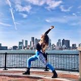 Sky Blue Hamsa Yoga Pants