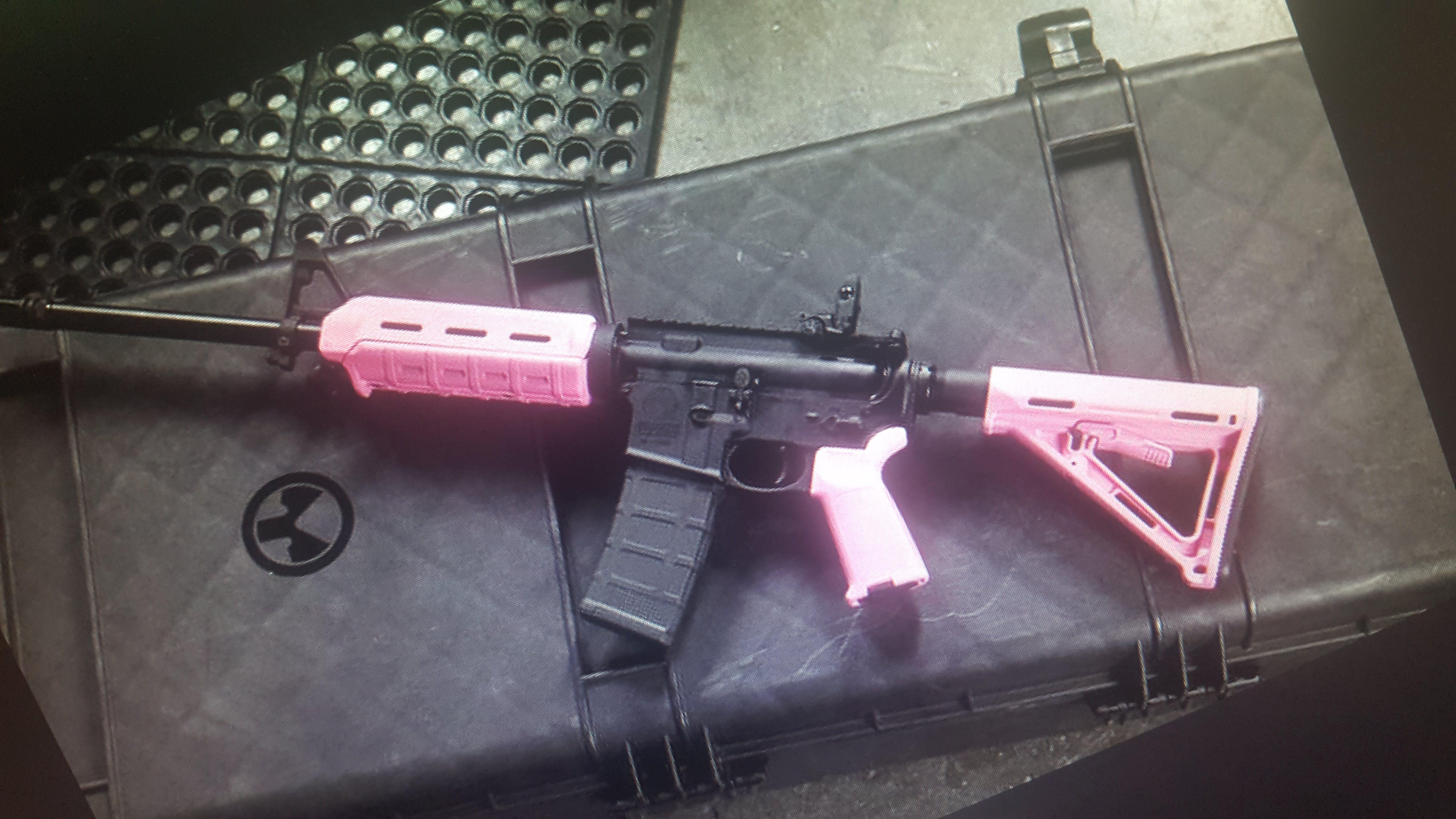 Magpul Pink Ar 15 Furniture Set