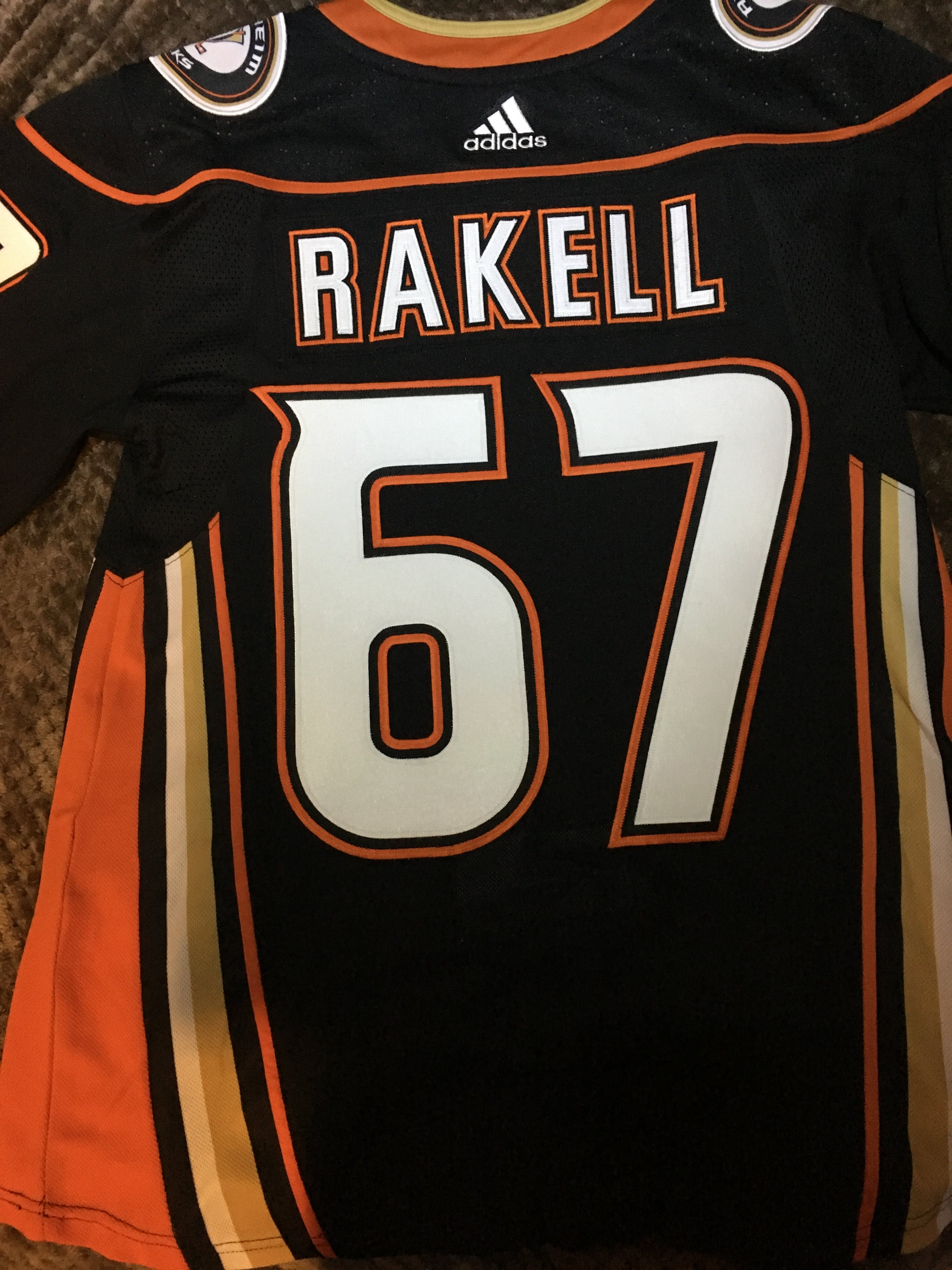 5a80d6104b3 ANY NAME AND NUMBER ANAHEIM DUCKS AUTHENTIC PRO ADIDAS NHL JERSEY ...