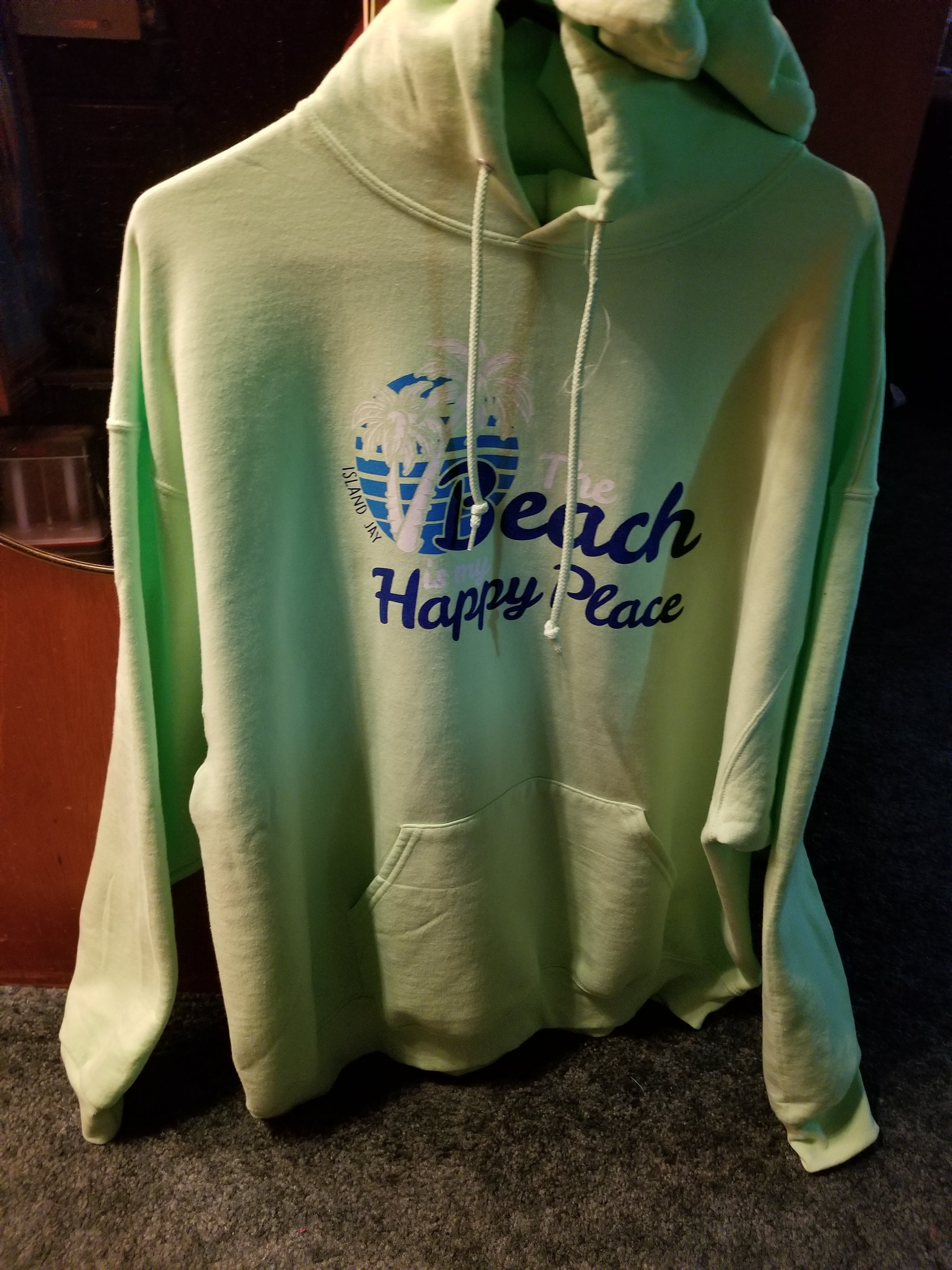 Island Jay The Original Beach is My Happy Place Soft Style Pullover Hoodie