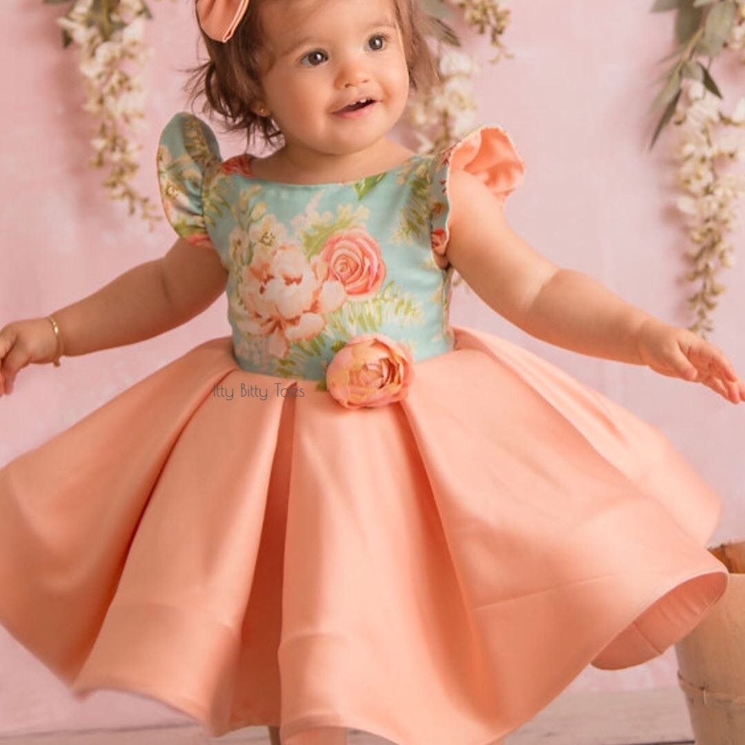 df51e87072531 Leila Dress (Peach) - Baby Shop Online