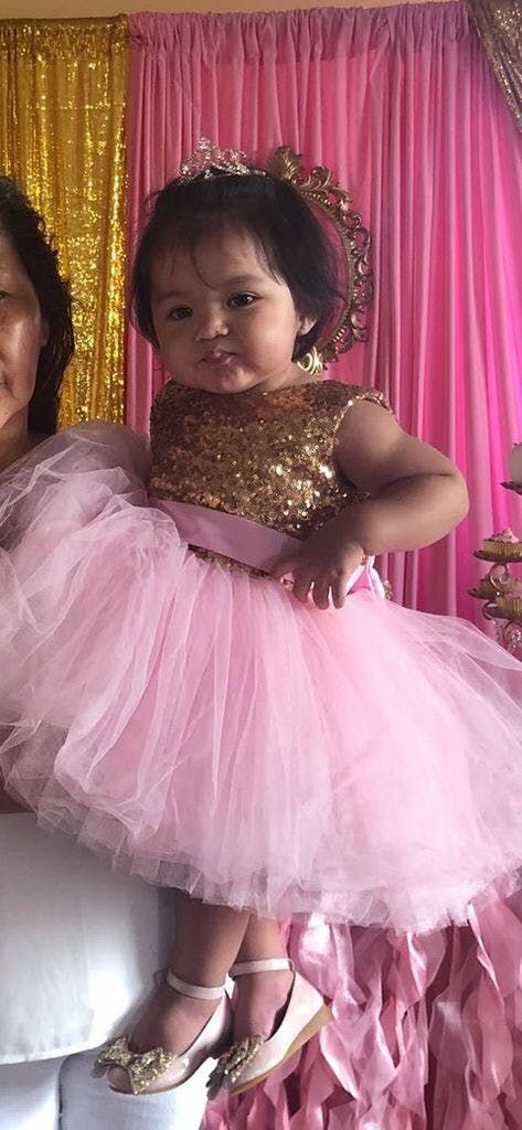 88a64ffb3 Princess Kate Dress (Gold   Pink)
