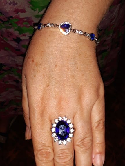 Chain bracelets & bangles Shiny Rhinestone Heart shape