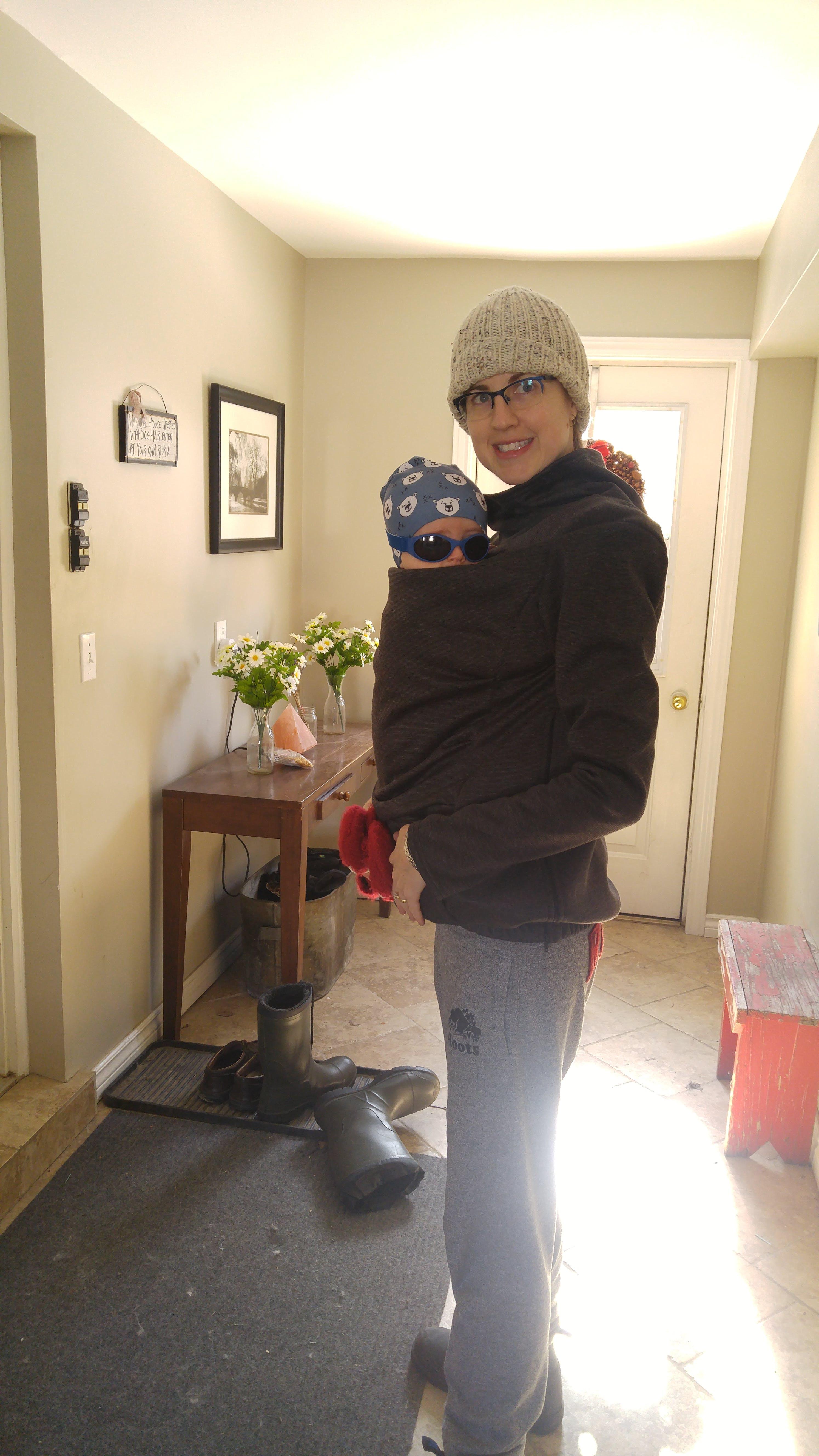 3ad71b362 Belly Bedaine Kuuma Babywearing Sweater - Little Zen One