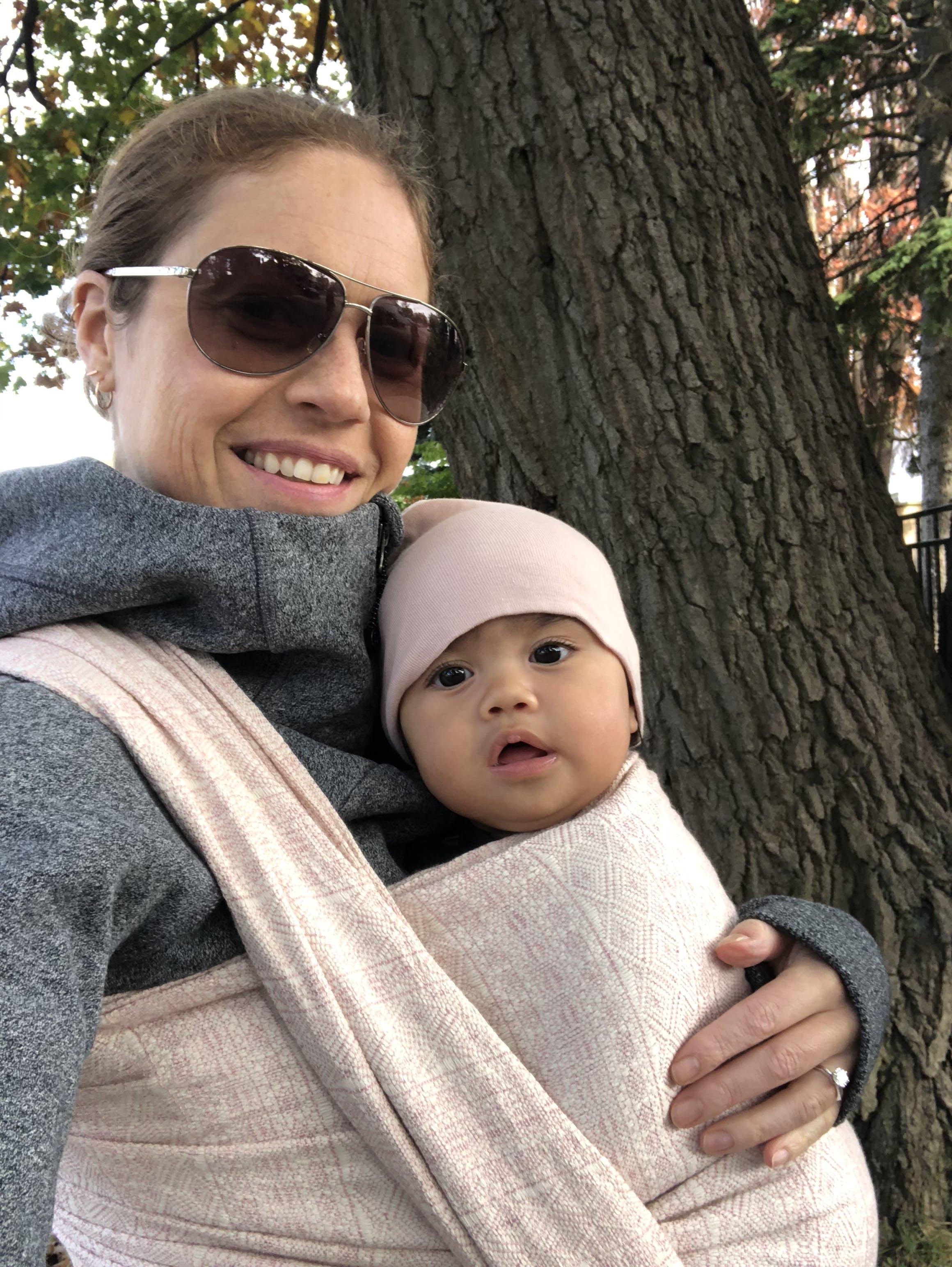 Didymos Baby Woven Wrap Prima Rose silk linen
