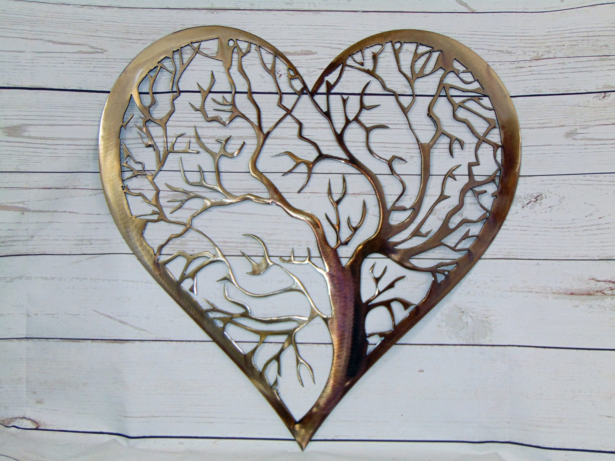 Etonnant Heart Tree Of Life Metal Wall Art