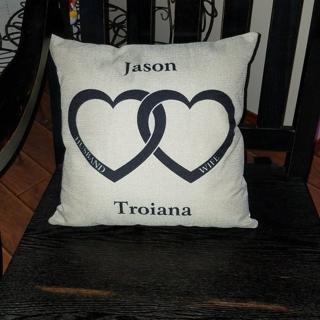 Personalized Husband And Wife Throw Pillow Cover 18 Quot X
