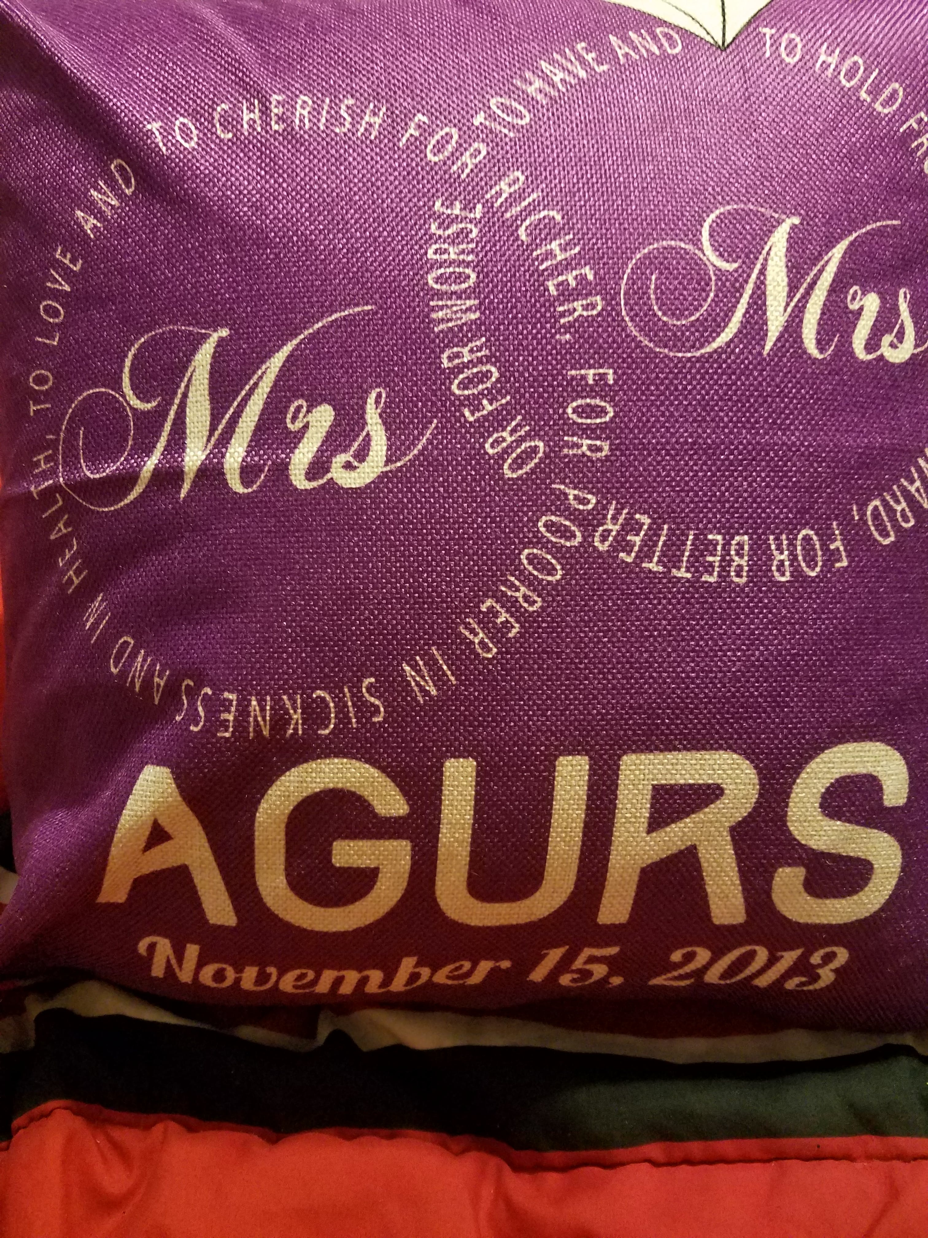 Personalized Mr And Mrs Wedding Vows Edition Pillow