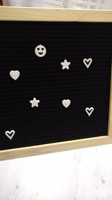 "SALE Black Felt Letter Board 10x10 Inches. Changeable Letter Boards Include bag, 790 (340 ¾""+ 450 1"") White Plastic Letters, Numbers, Special Characters, Emojis , Symbols, and Punctuation, Sorting Tray, Oak Frame & Easel"