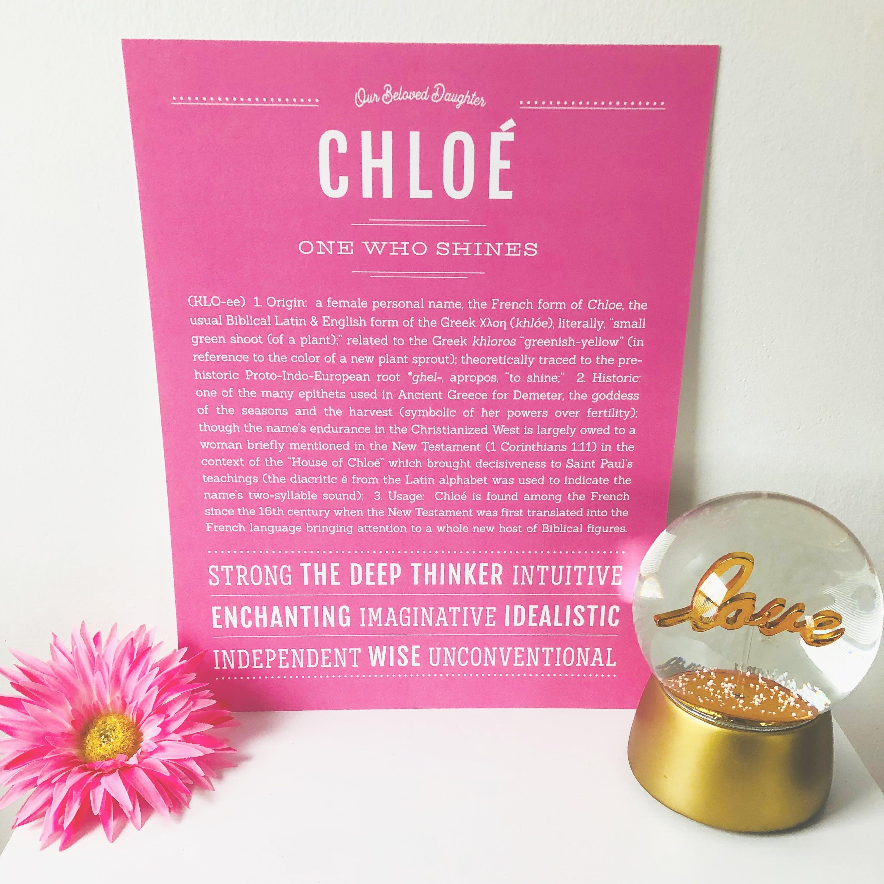 Chloe   Classic Name Print