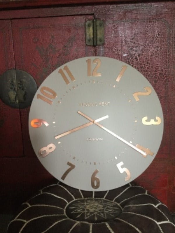 Buy Thomas Kent Mulberry Wall Clock Rose Gold 50cm Online