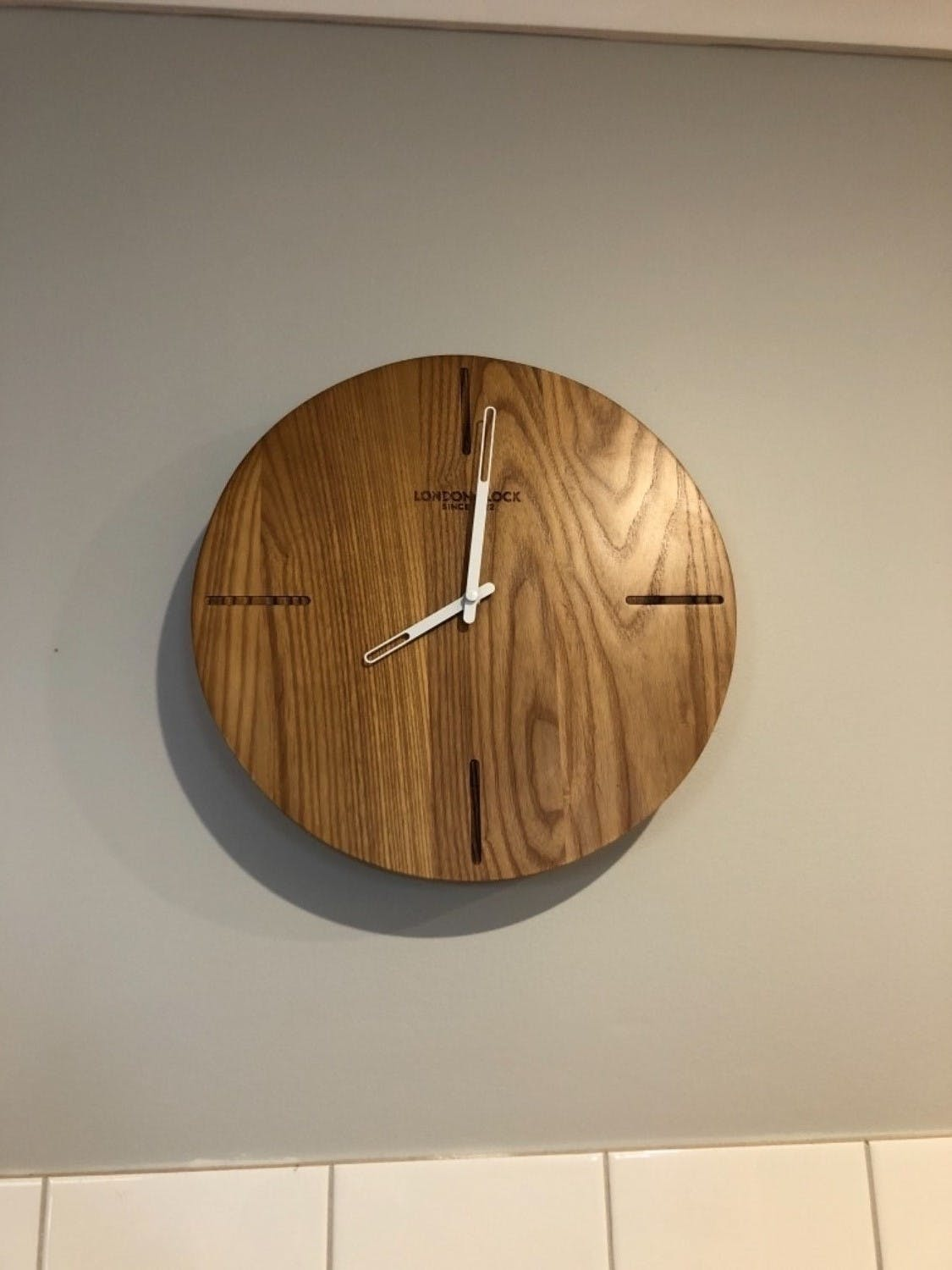 London Clock Company Eldo Solid Wood Wall Clock, 33cm