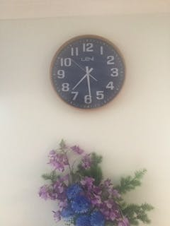Leni Wood Wall Clock, Navy, Large, 40cm