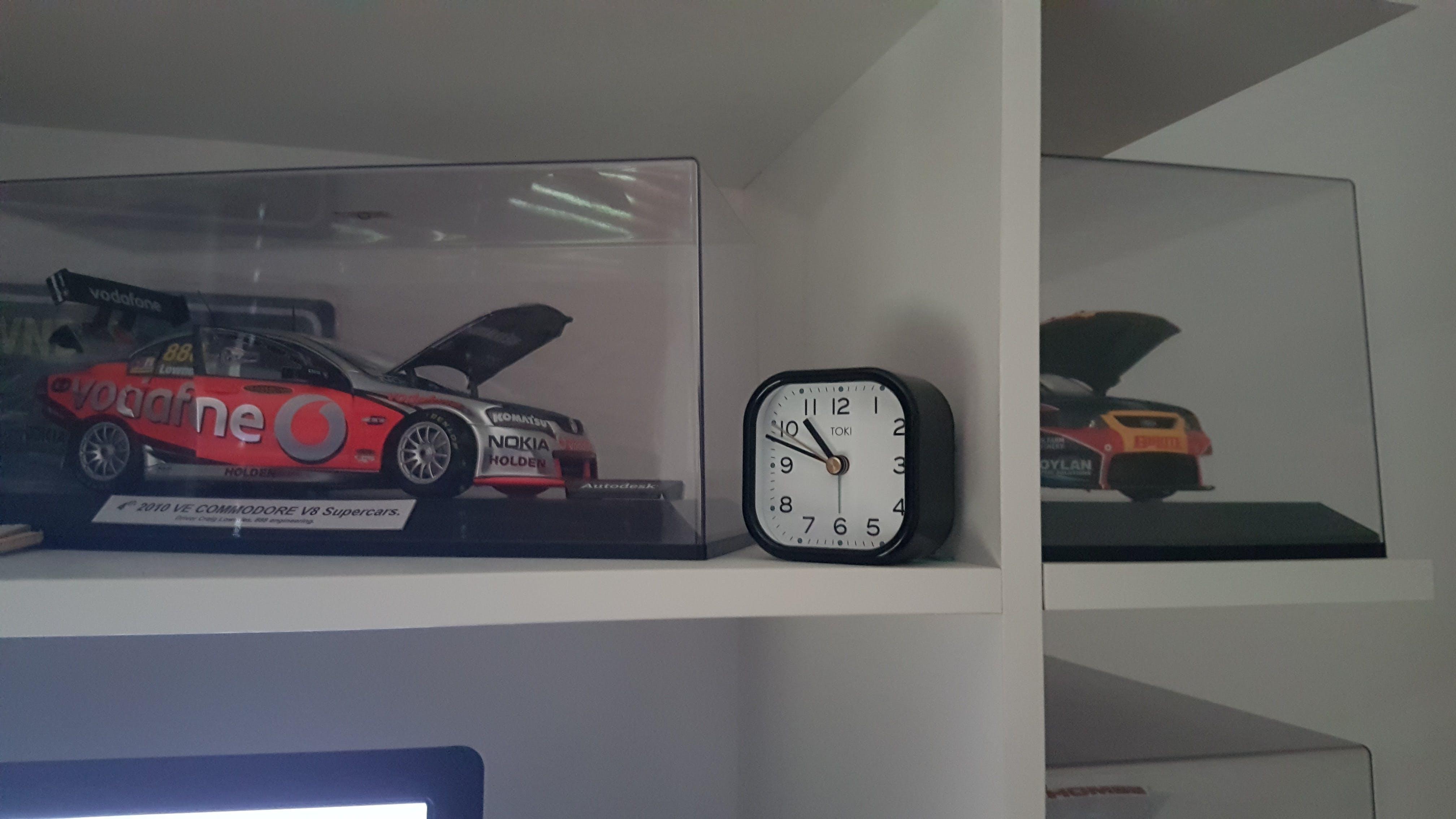 Toki Liv Silent Sweep Alarm Clock, Black, 7cm GET 1 FREE