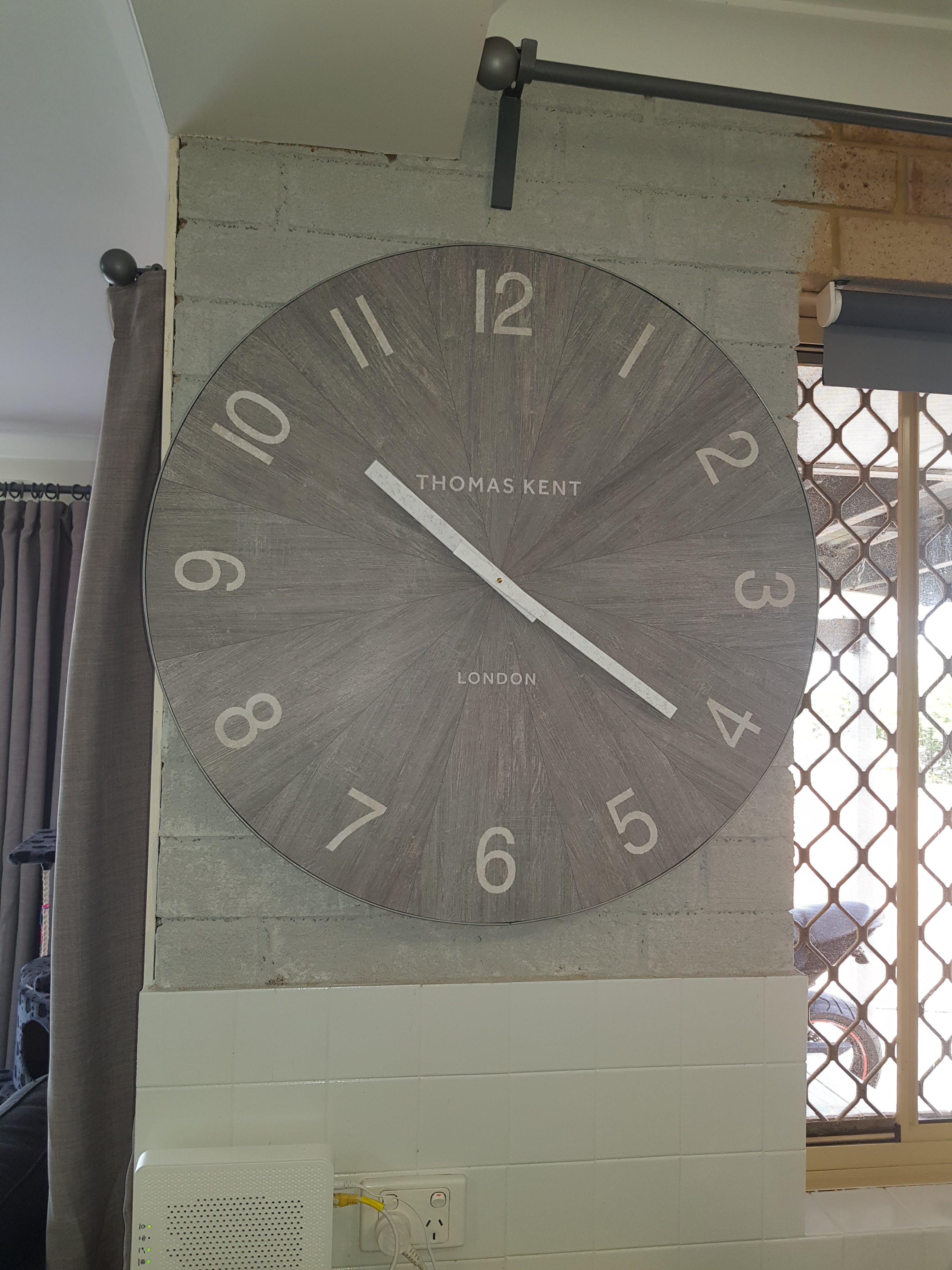 Thomas Kent Wharf Wall Clock, Limestone, 76cm