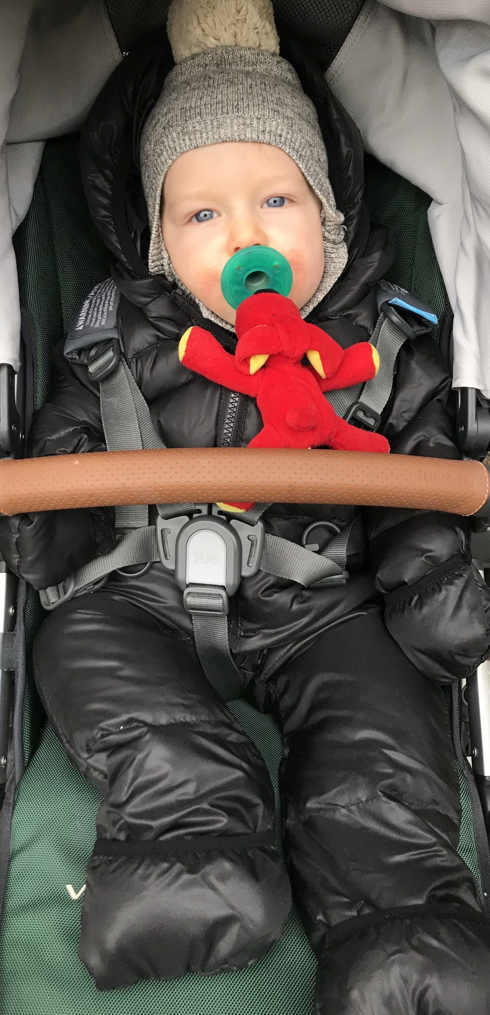 Car Seat Safety Infant Road Coat® Snow Suit - Black