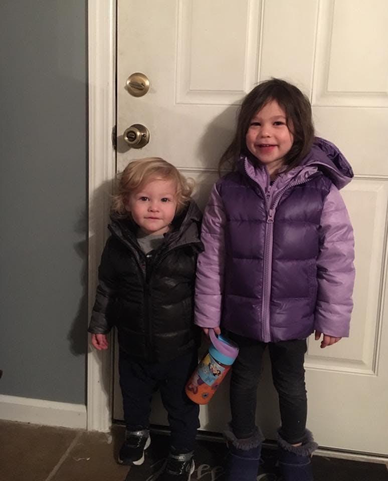Car Seat Safety  Road Coat®Down Jacket - Violet / Purple