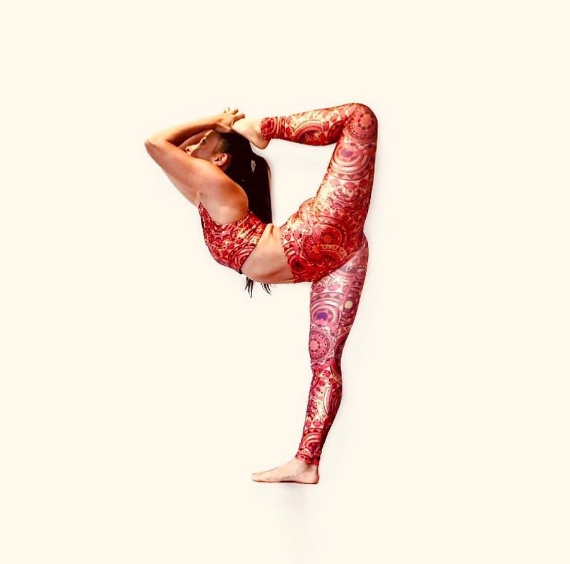 49c7341f1233b Solis Stella Orange Boho Seamless Racerback Sport Yoga Bra - Women ...