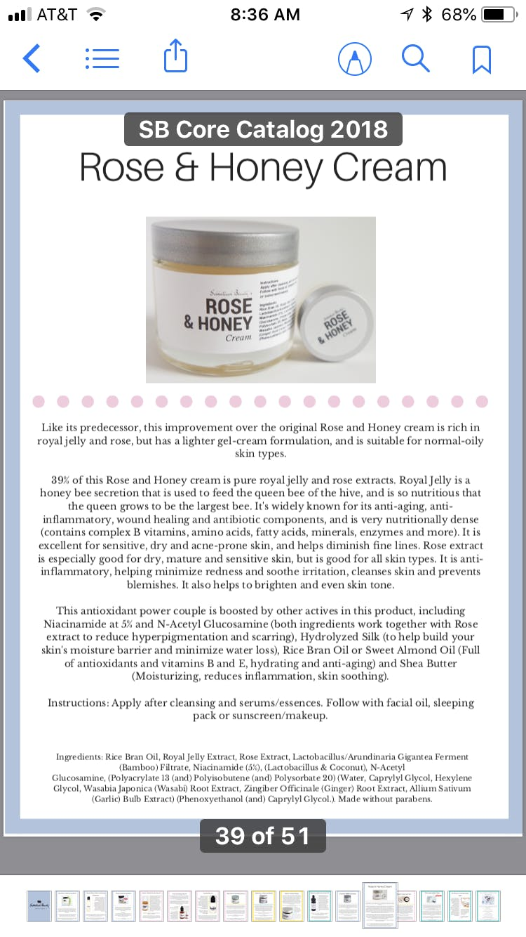 Sabbatical Beauty Core Product Catalog 2018