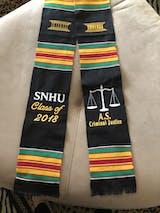 Customizable Black Graduation Kente Stole