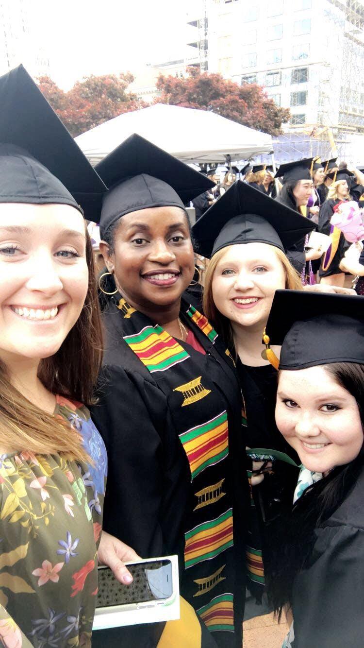 Kente Cloth Graduation Stole Black