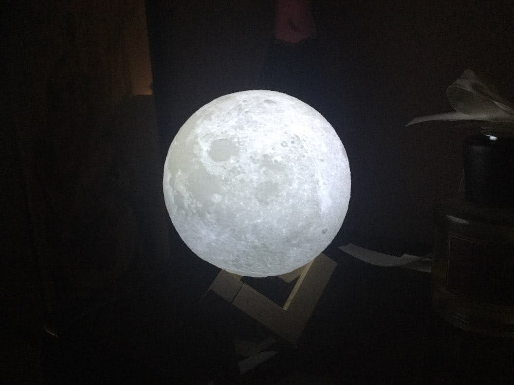 3D Print Night Moon LED Lamp - Designed For Kids and Bedrooms, Energy Saving & Moonlight Mode